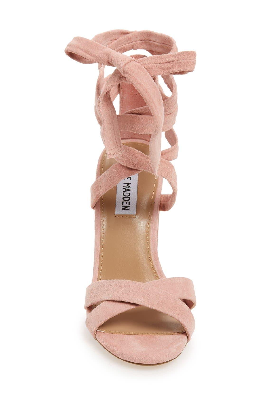 STEVE MADDEN, 'Christey' Wraparound Ankle Tie Sandal, Alternate thumbnail 3, color, 650