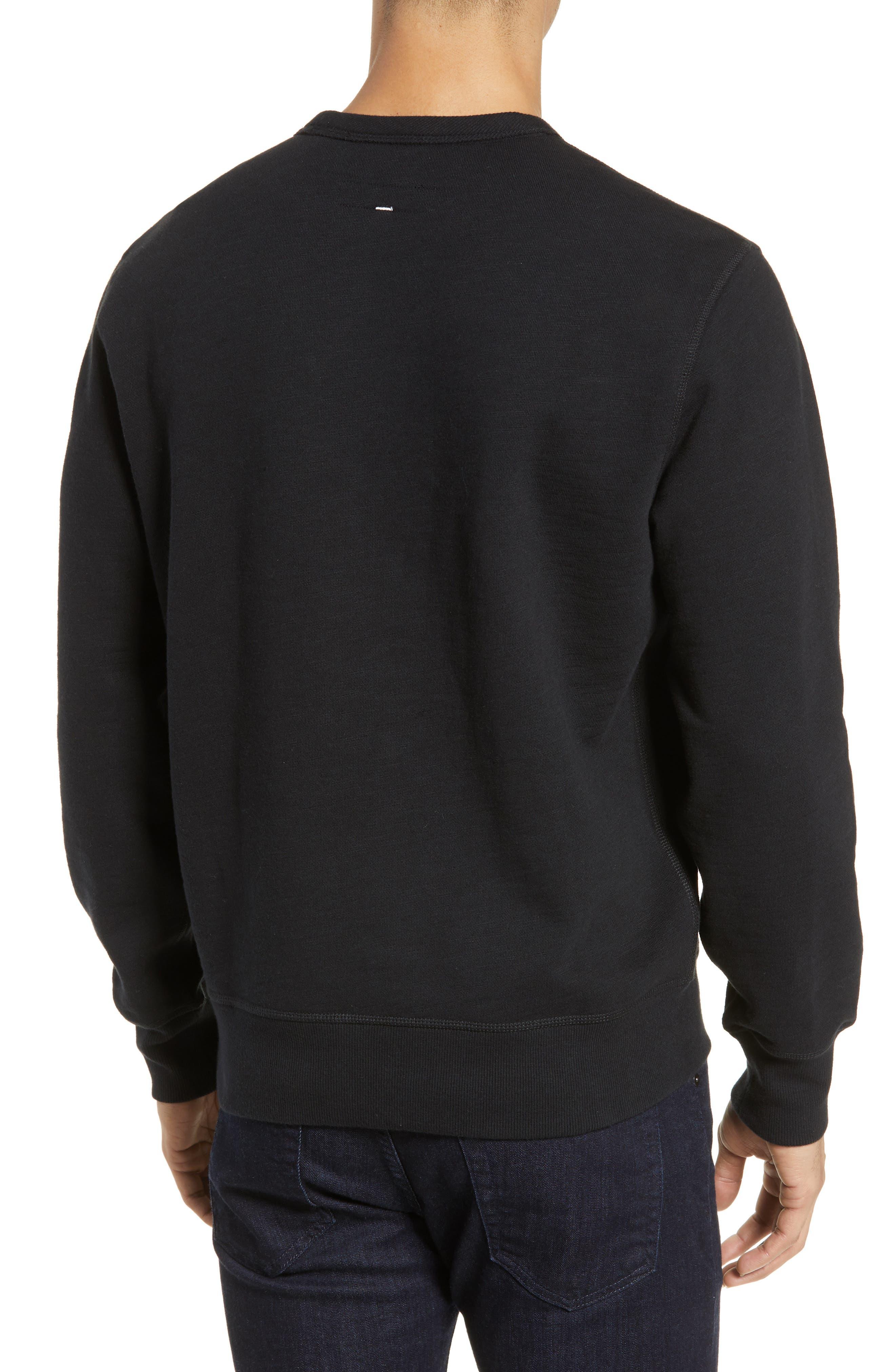 RAG & BONE, Year of the Pig Graphic Sweatshirt, Alternate thumbnail 2, color, BLACK