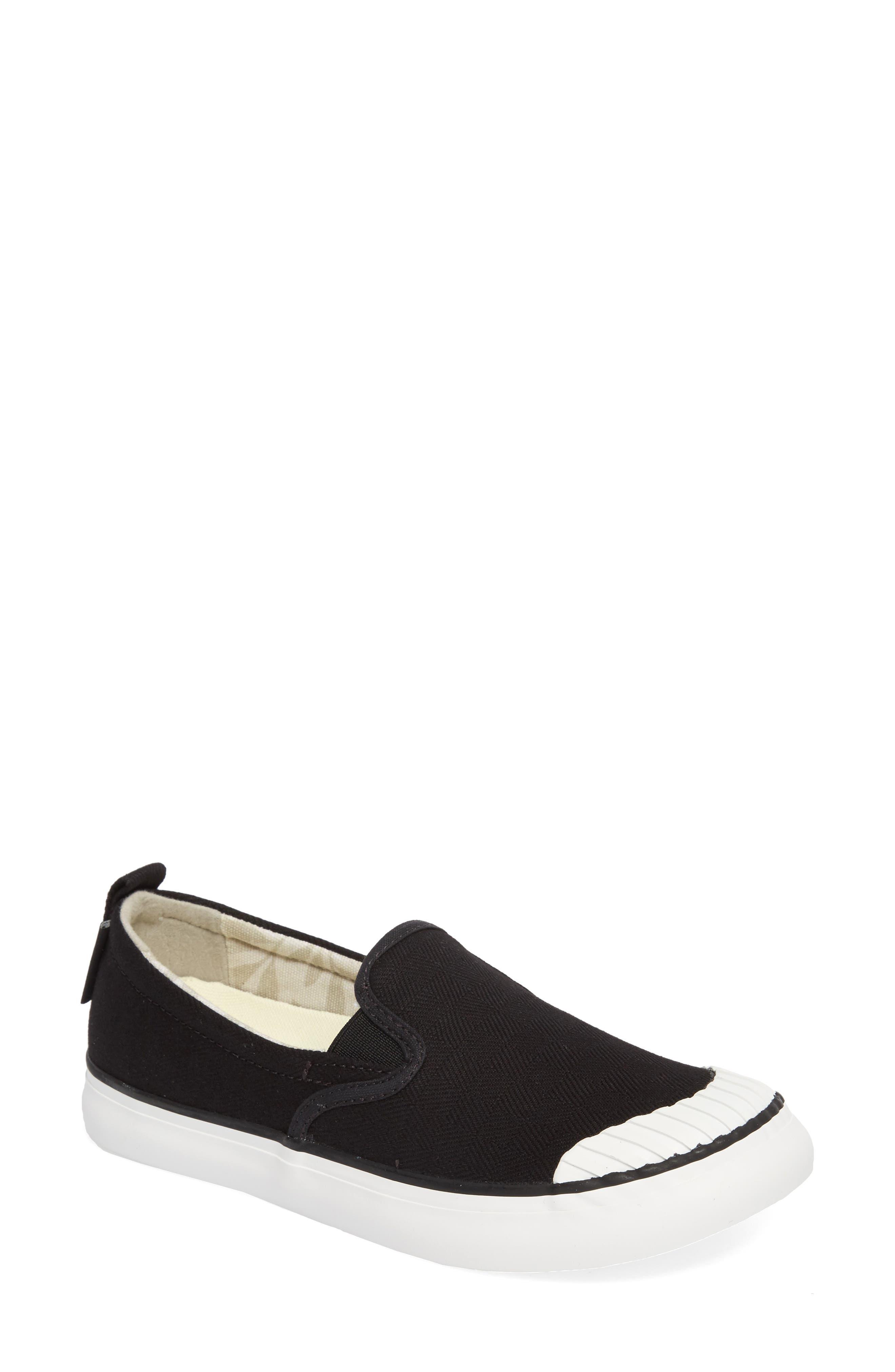 KEEN, Elsa Slip-On Sneaker, Main thumbnail 1, color, BLACK/ STAR WHITE