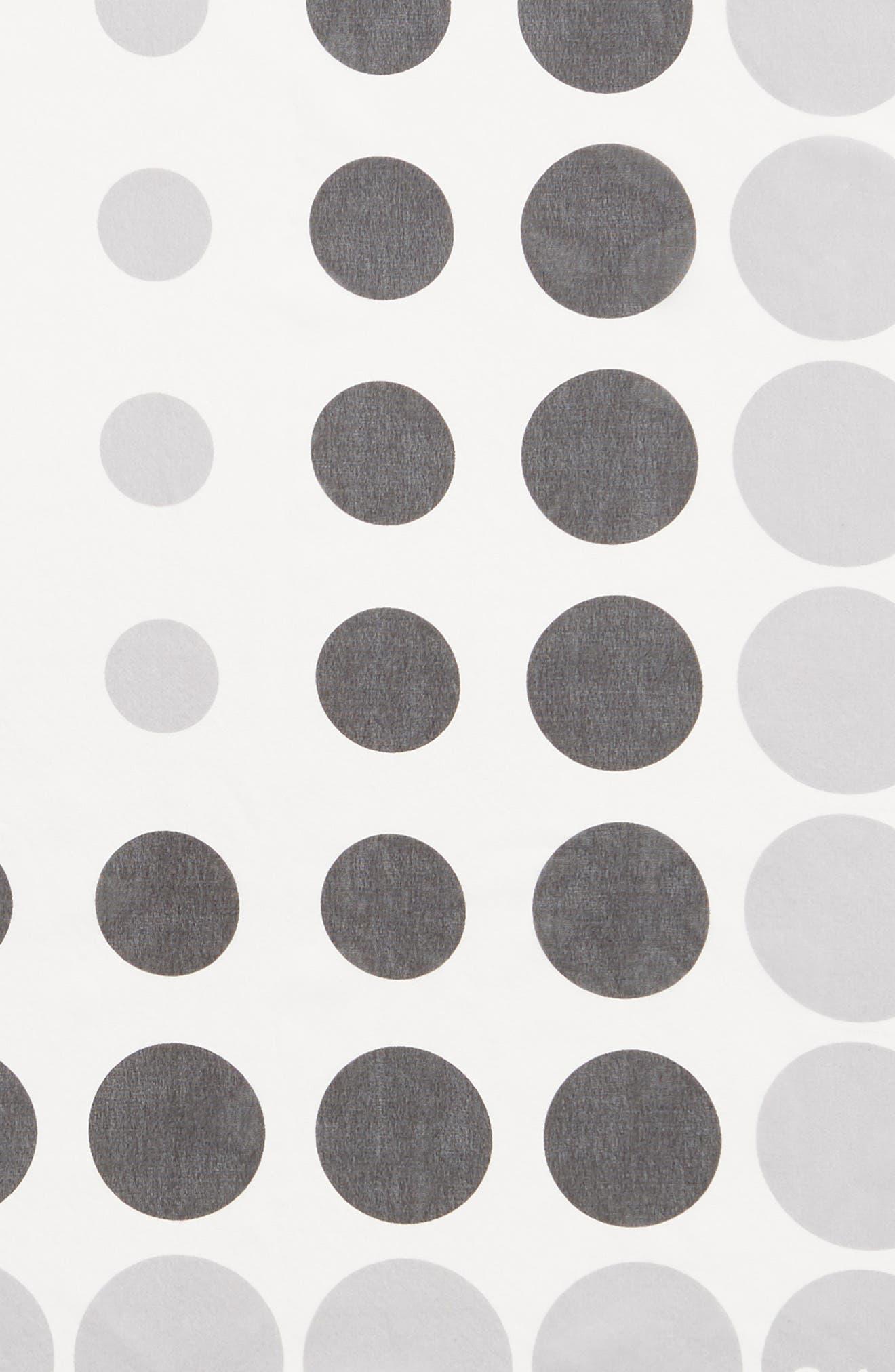 ECHO, Polka Dot Square Silk Scarf, Alternate thumbnail 4, color, WHITE