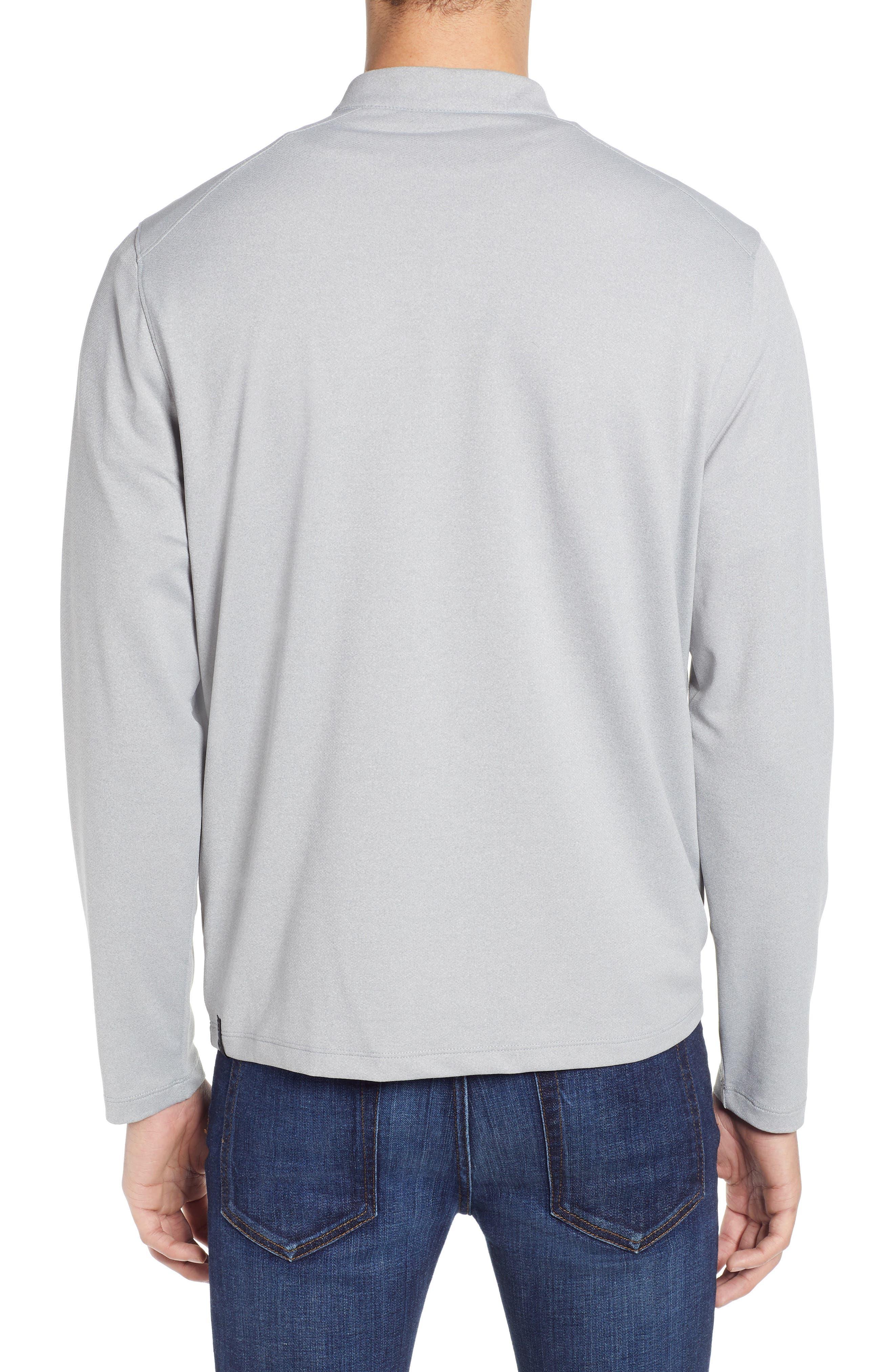 DEVEREUX, Lay-Low Half Zip Pullover, Alternate thumbnail 2, color, ASPHALT