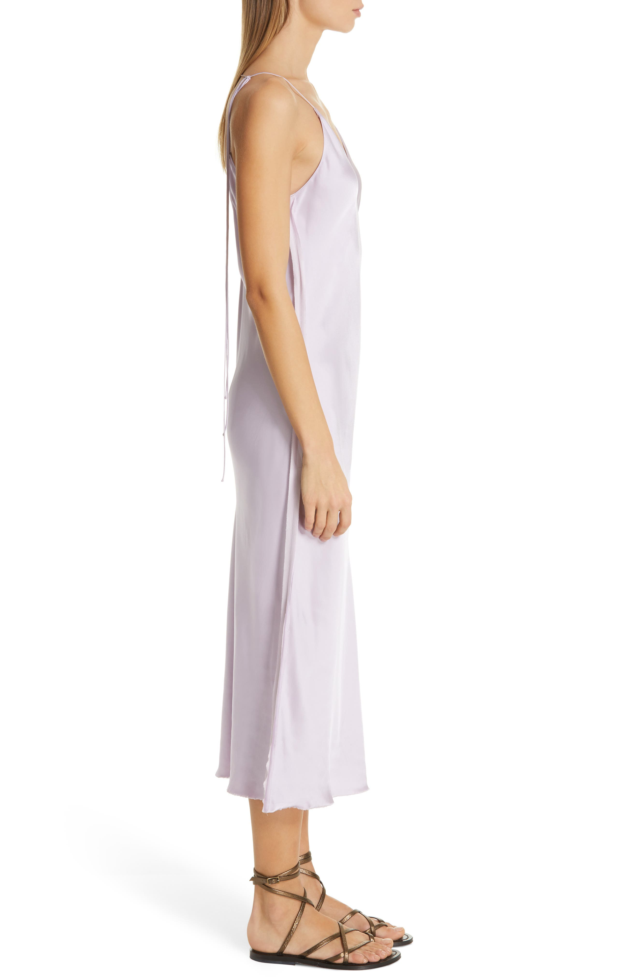 HELMUT LANG, Raw Detail Slipdress, Alternate thumbnail 4, color, LAVENDER