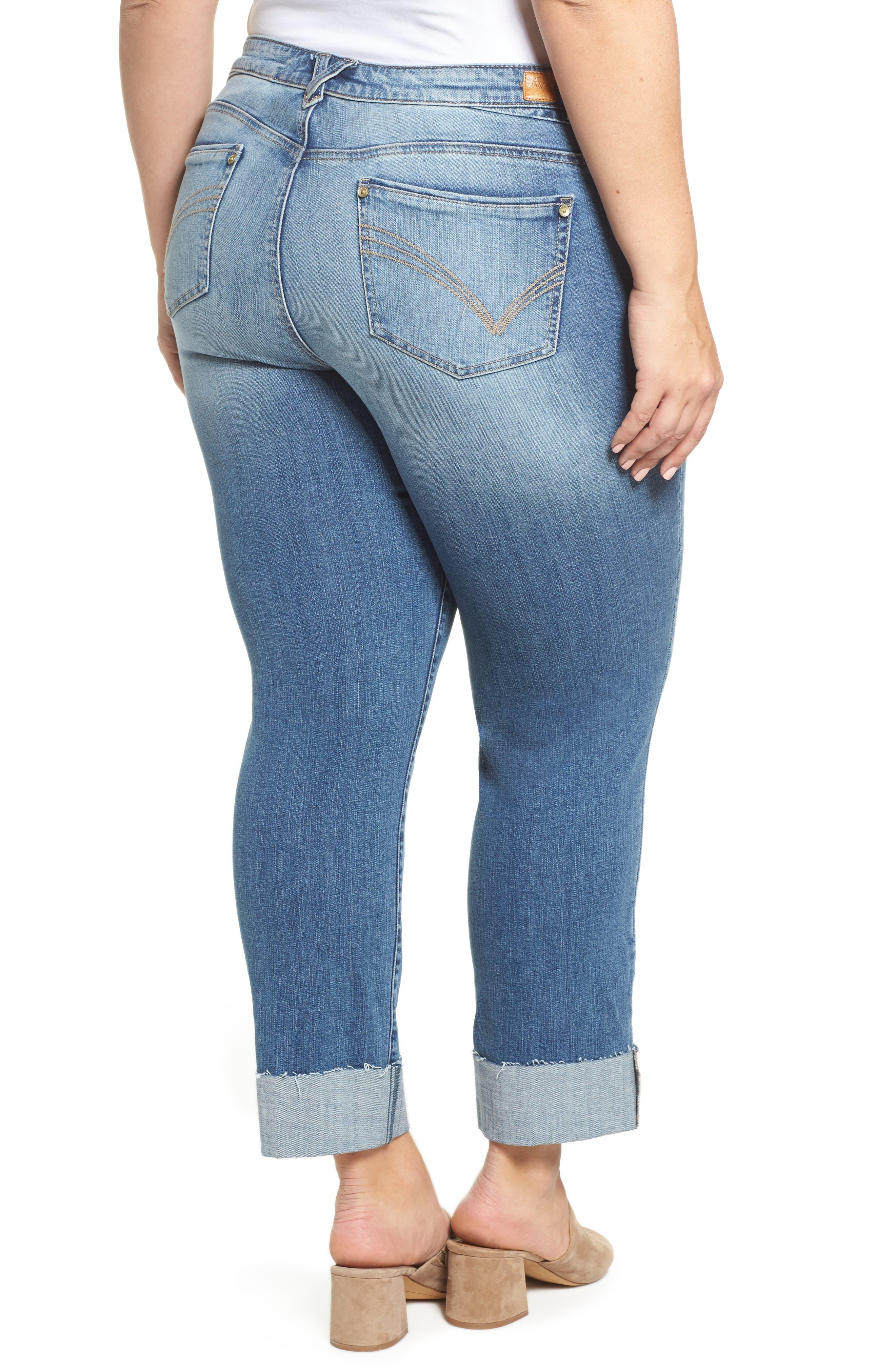 WIT & WISDOM, Flex-ellent Boyfriend Jeans, Alternate thumbnail 2, color, BLUE