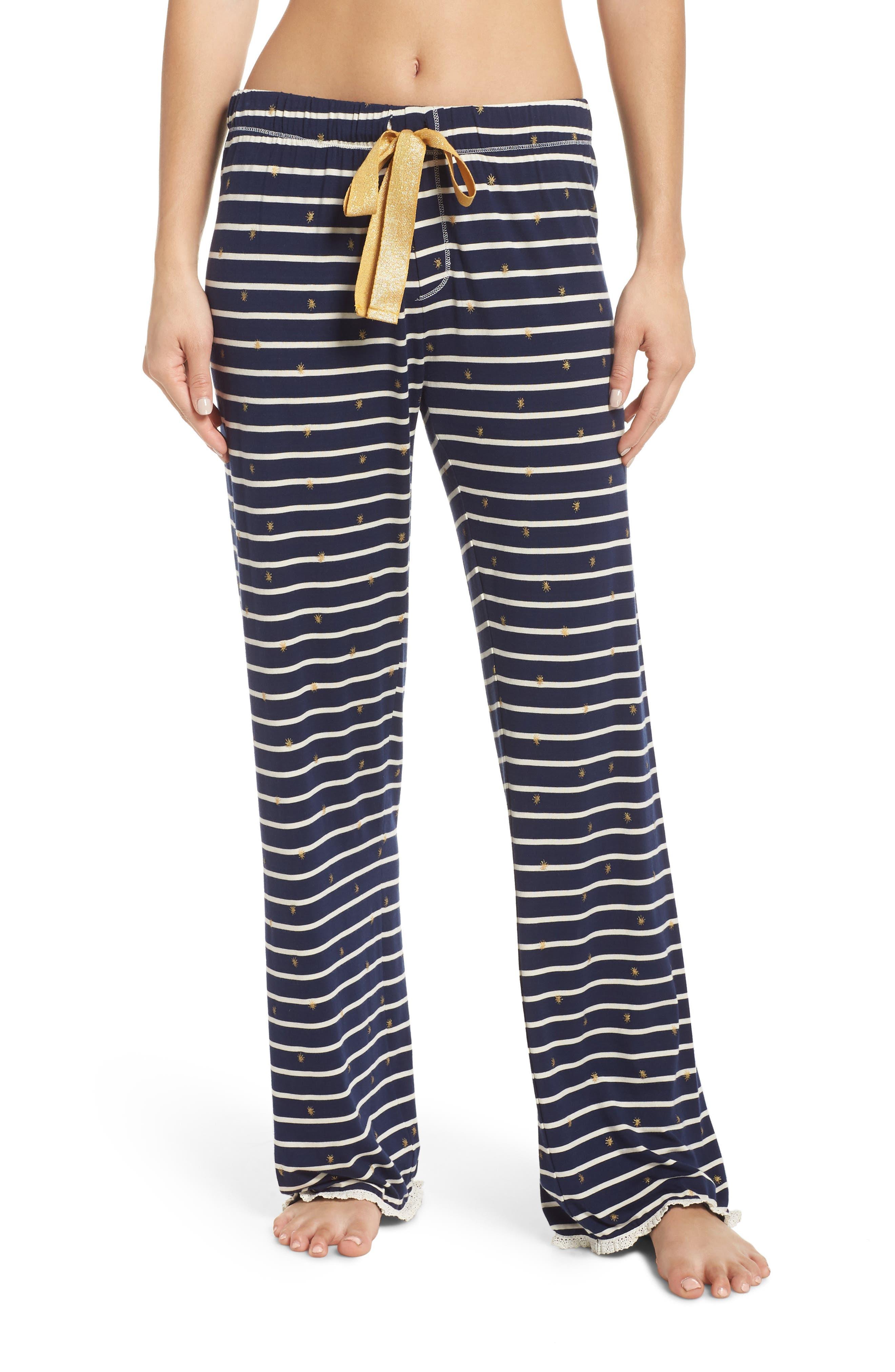HATLEY Cozy Pajama Pants, Main, color, BLUE