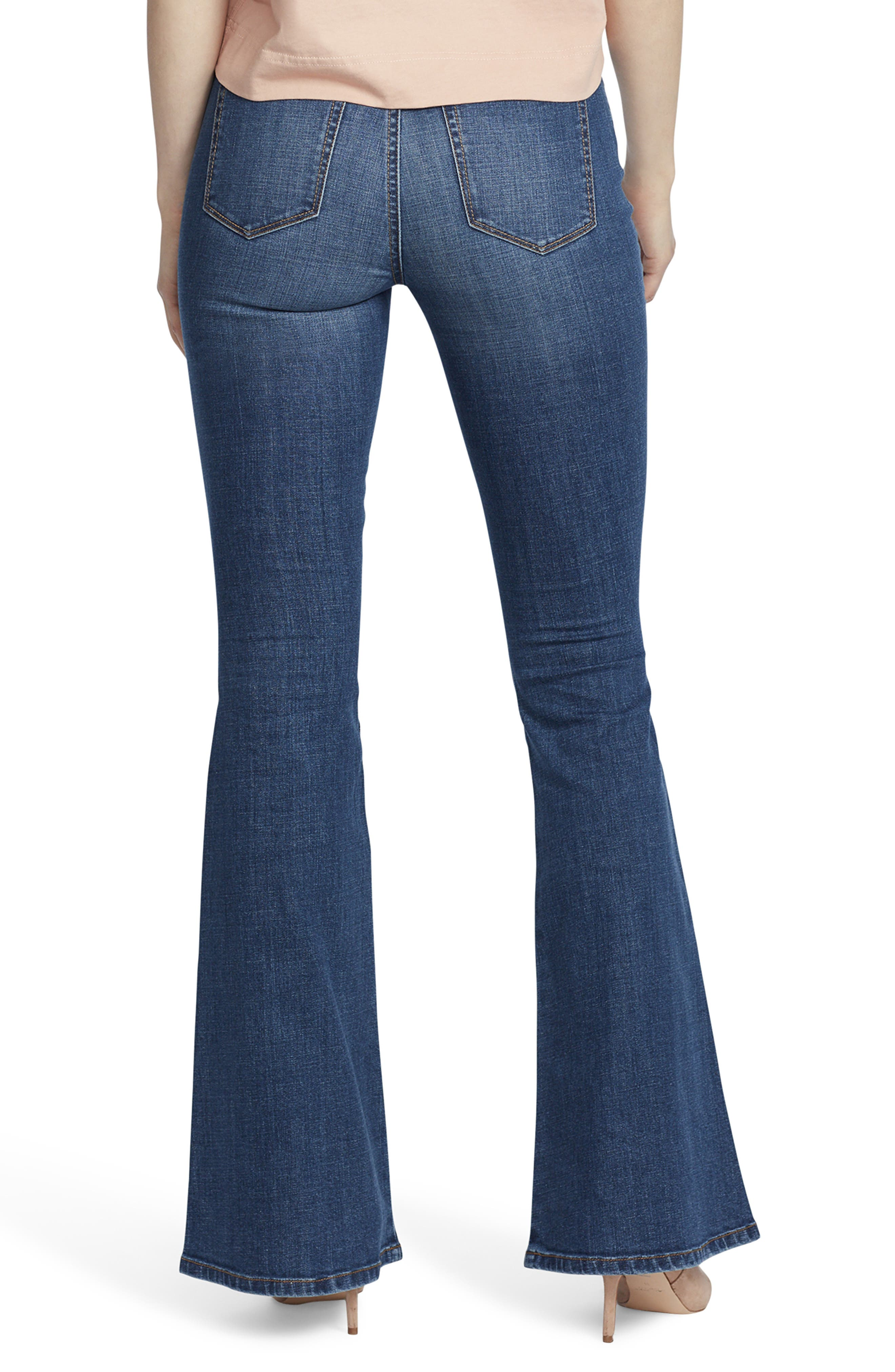 ELLA MOSS, High Waist Flare Jeans, Alternate thumbnail 2, color, NAOMI