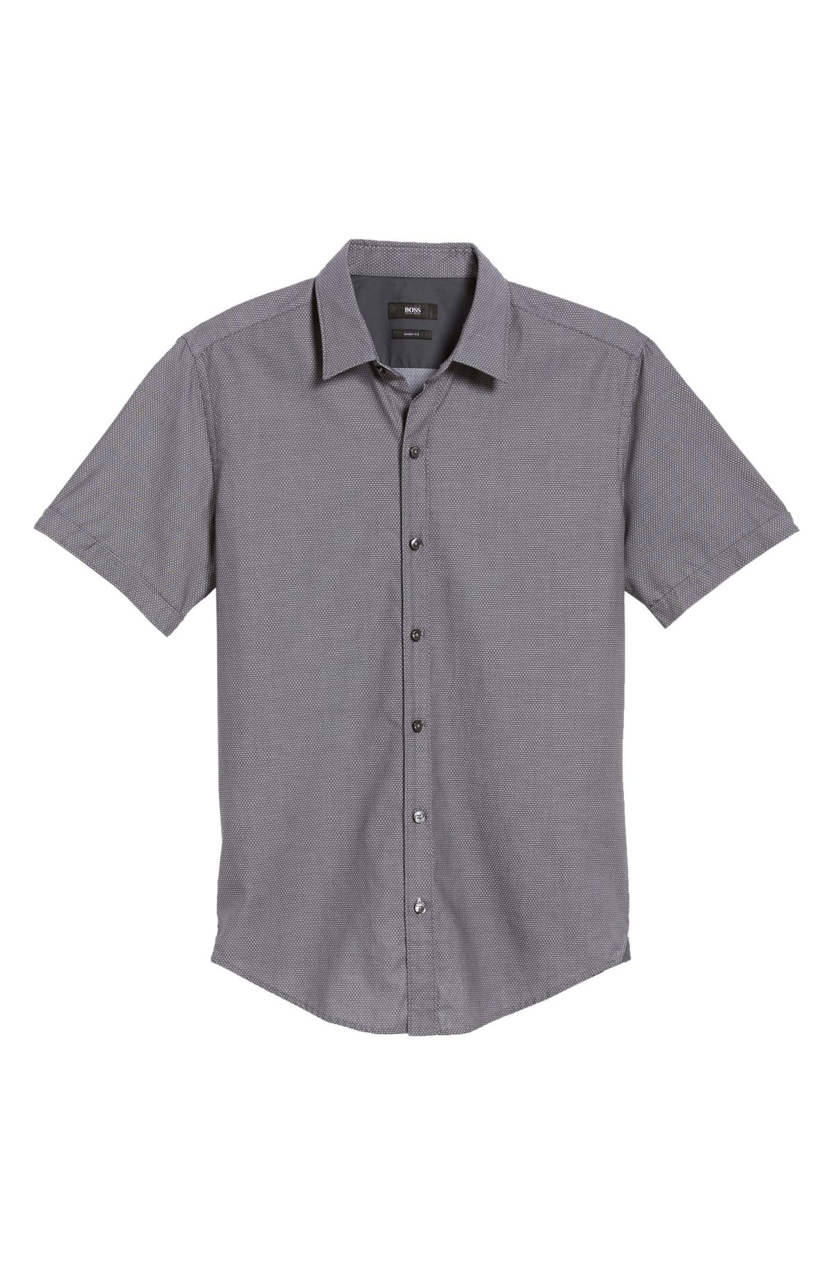 2c789d39 BOSS Robbie Sharp Fit Micro Dot Sport Shirt | Nordstrom