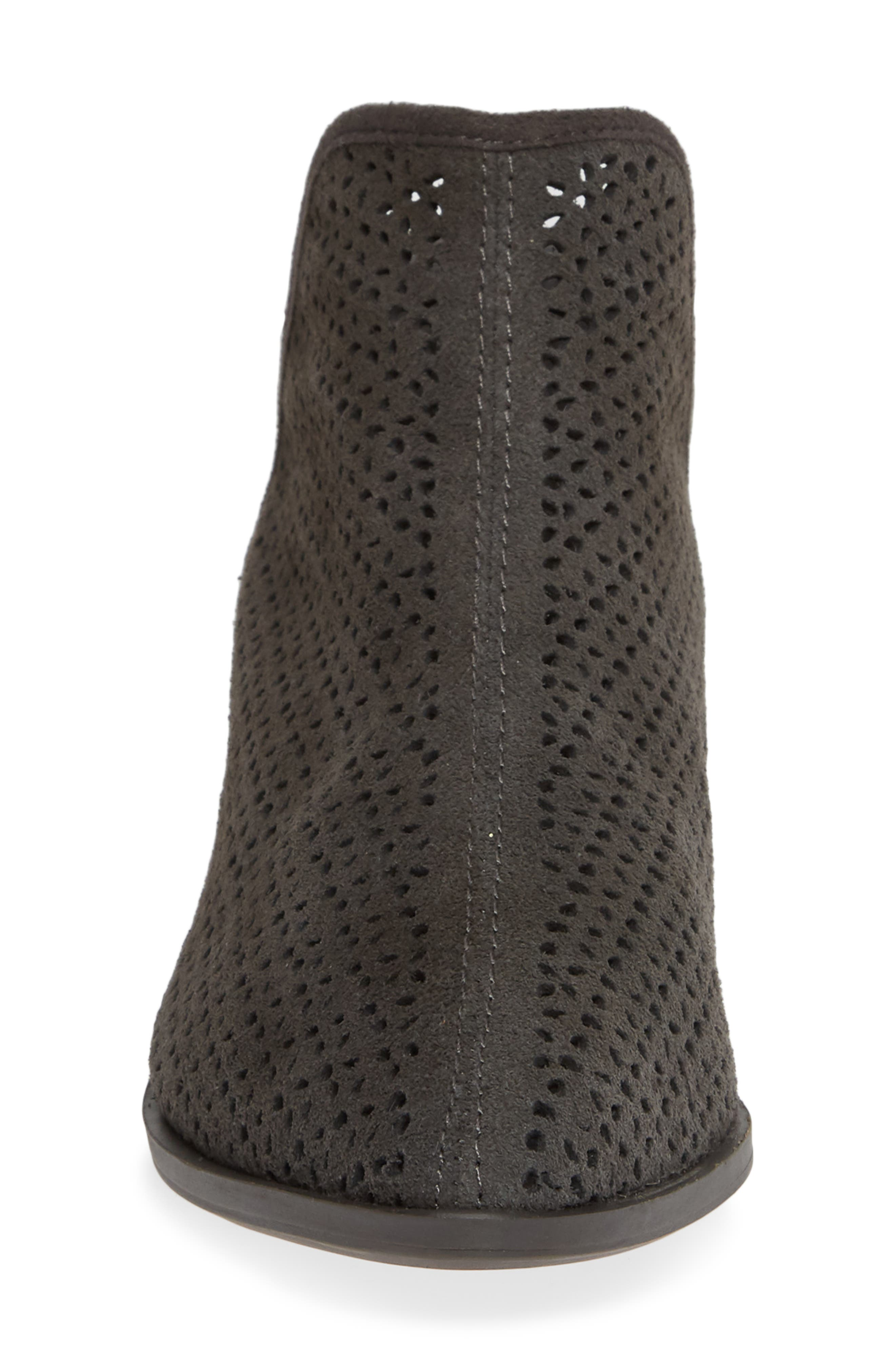 KELSI DAGGER BROOKLYN, Alley Perforated Bootie, Alternate thumbnail 4, color, CHARCOAL