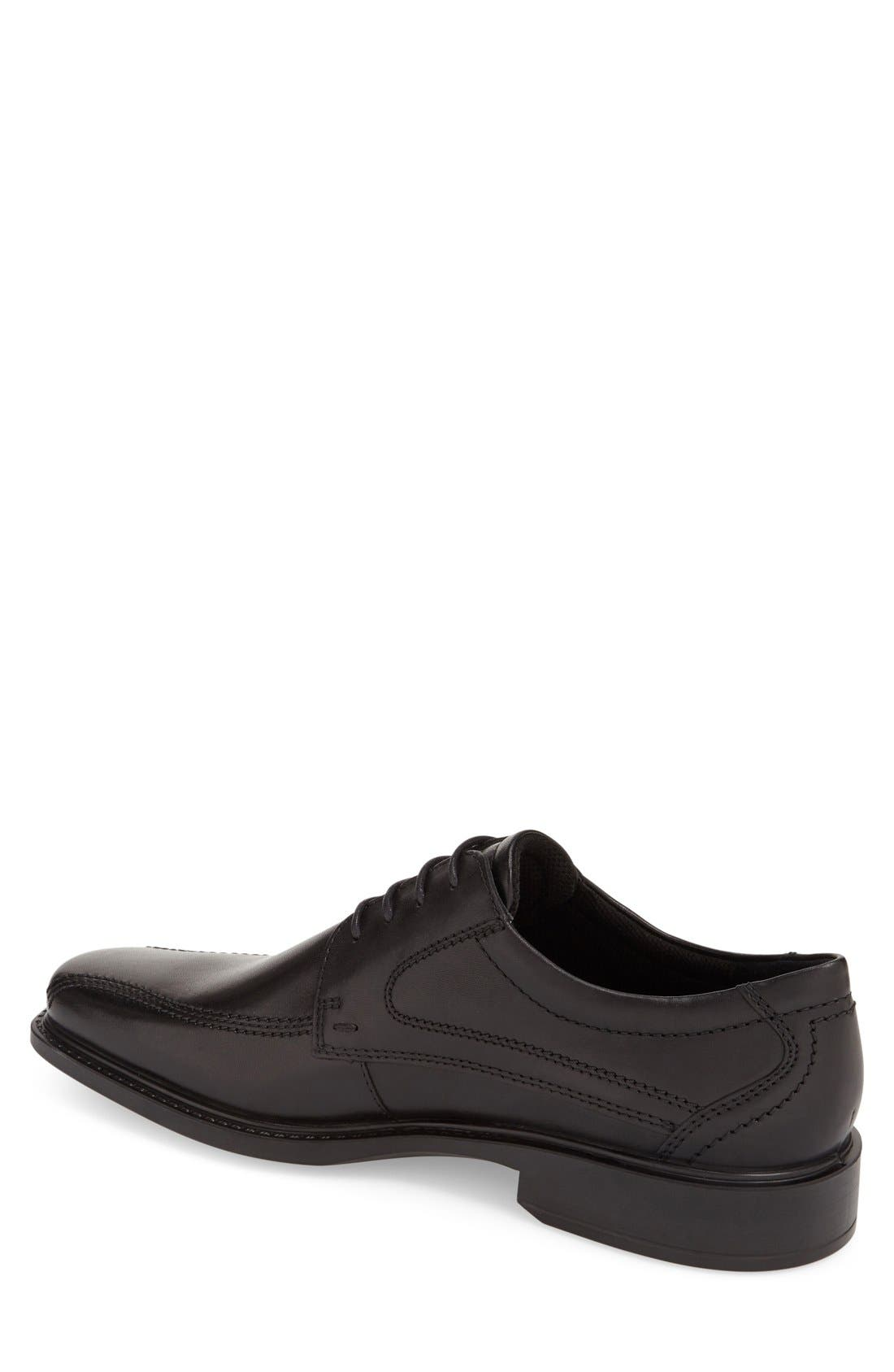 ECCO, 'New Jersey' Bicycle Toe Oxford, Alternate thumbnail 6, color, BLACK