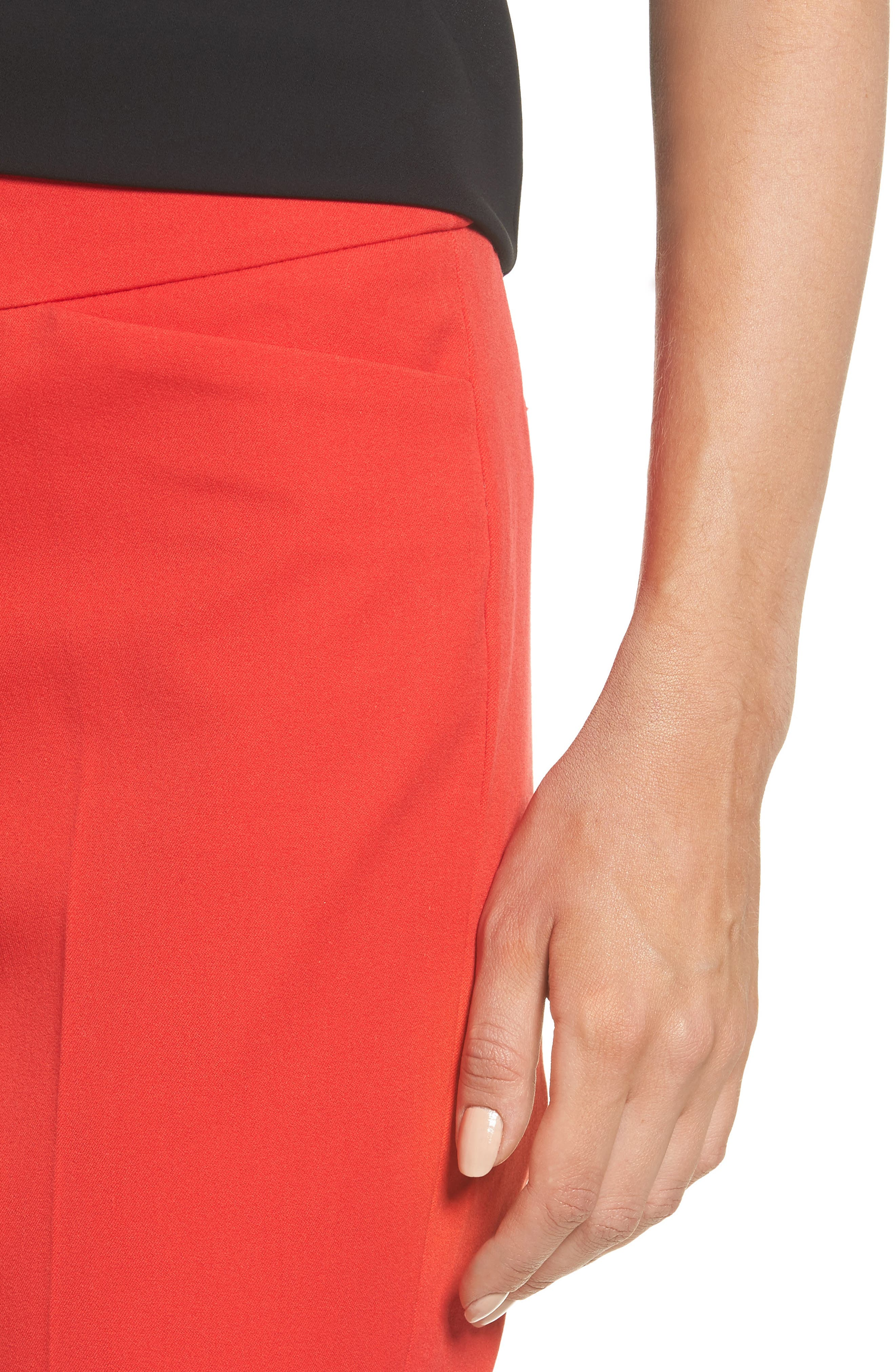 HALOGEN<SUP>®</SUP>, Ankle Pants, Alternate thumbnail 5, color, RED BLOOM