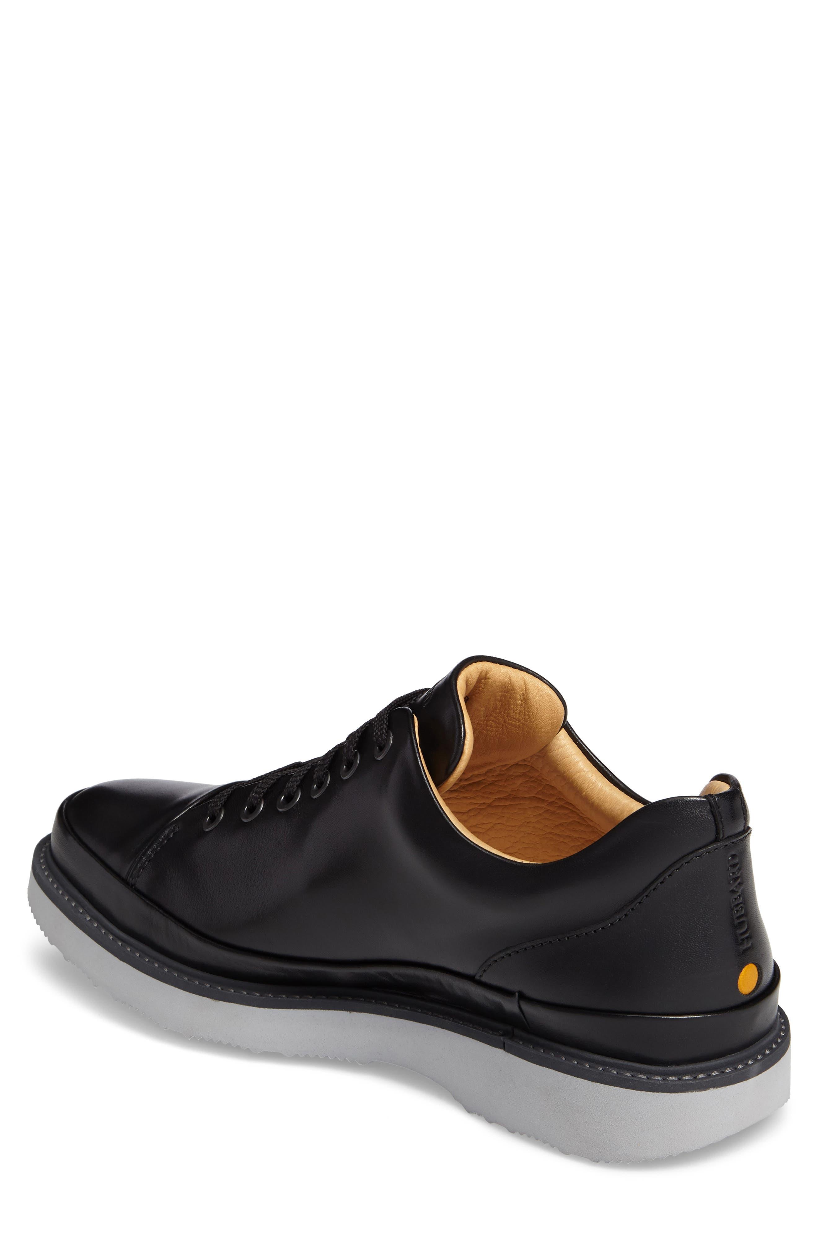SAMUEL HUBBARD, Sneaker, Alternate thumbnail 2, color, BLACK LEATHER