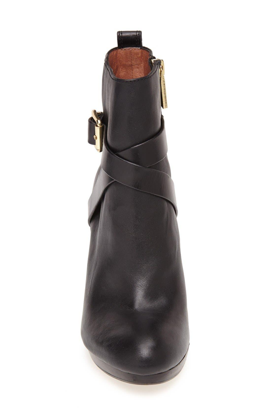 LOUISE ET CIE, 'Labradora' Leather Platform Bootie, Alternate thumbnail 4, color, 001
