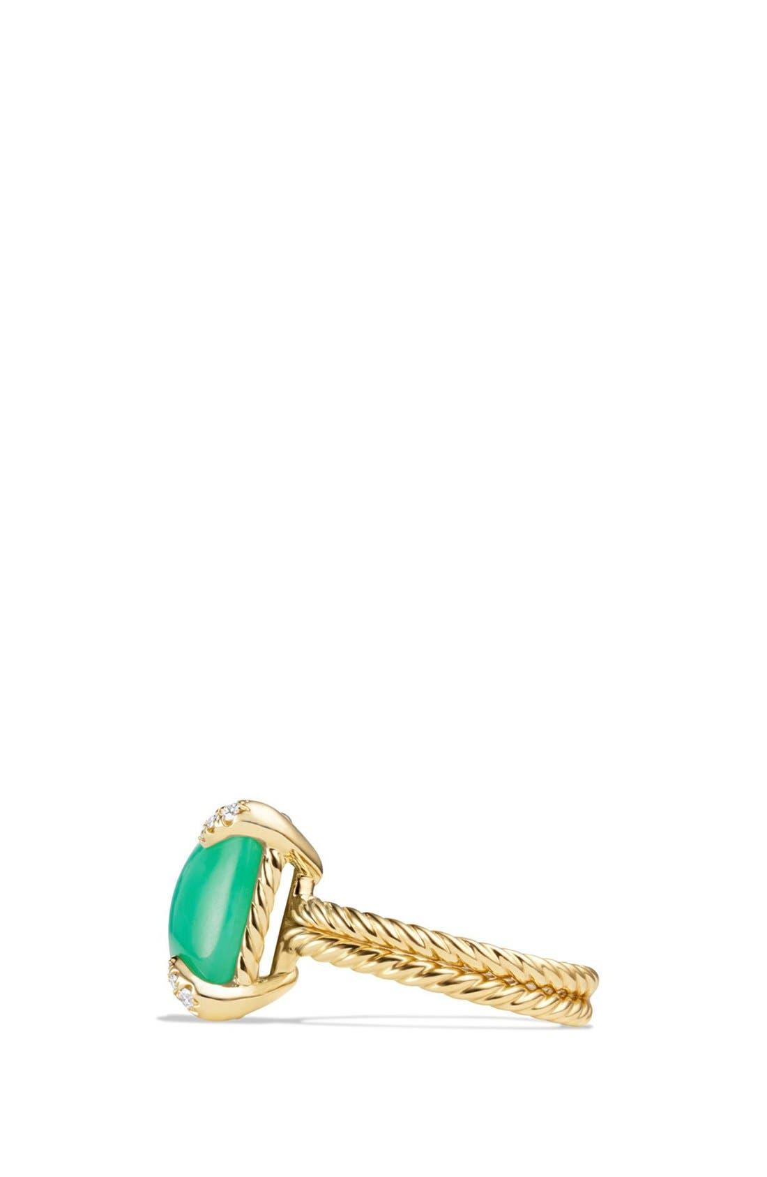 DAVID YURMAN, 'Chatelaine' Ring with Diamonds, Alternate thumbnail 5, color, CHRYSOPRASE