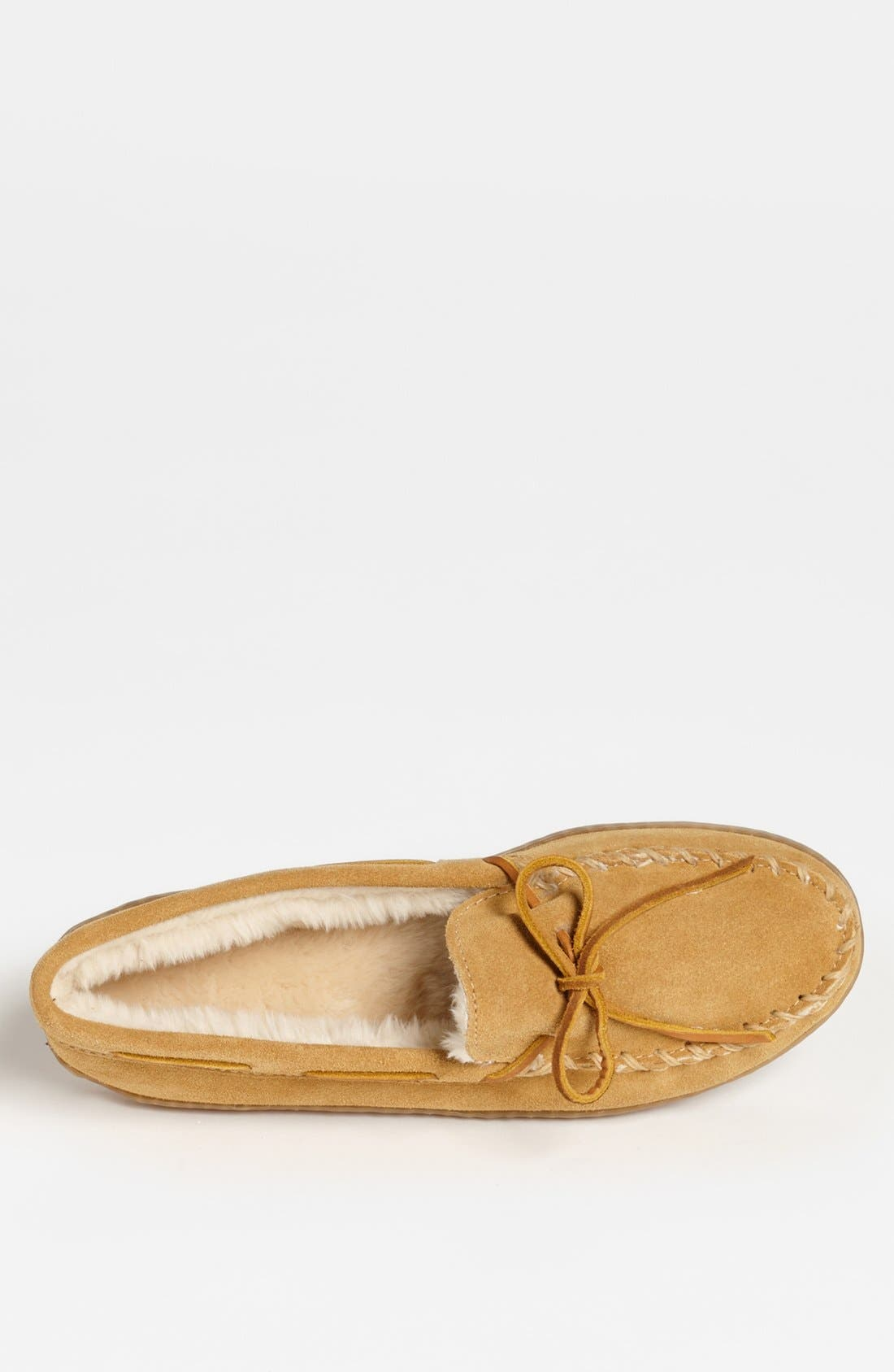 MINNETONKA, Suede Moccasin, Alternate thumbnail 3, color, TAN SUEDE