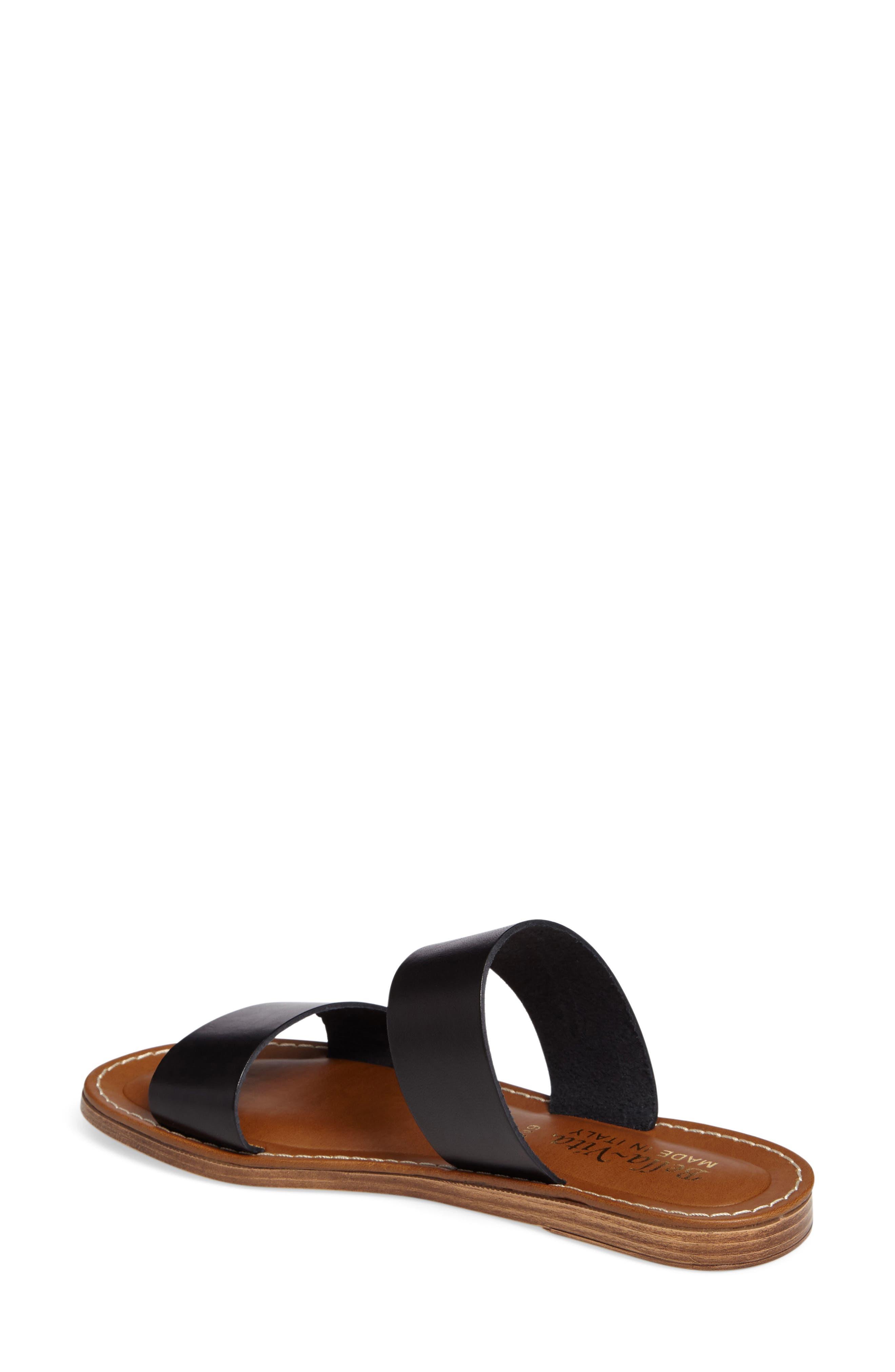 BELLA VITA, Imo Slide Sandal, Alternate thumbnail 2, color, BLACK LEATHER