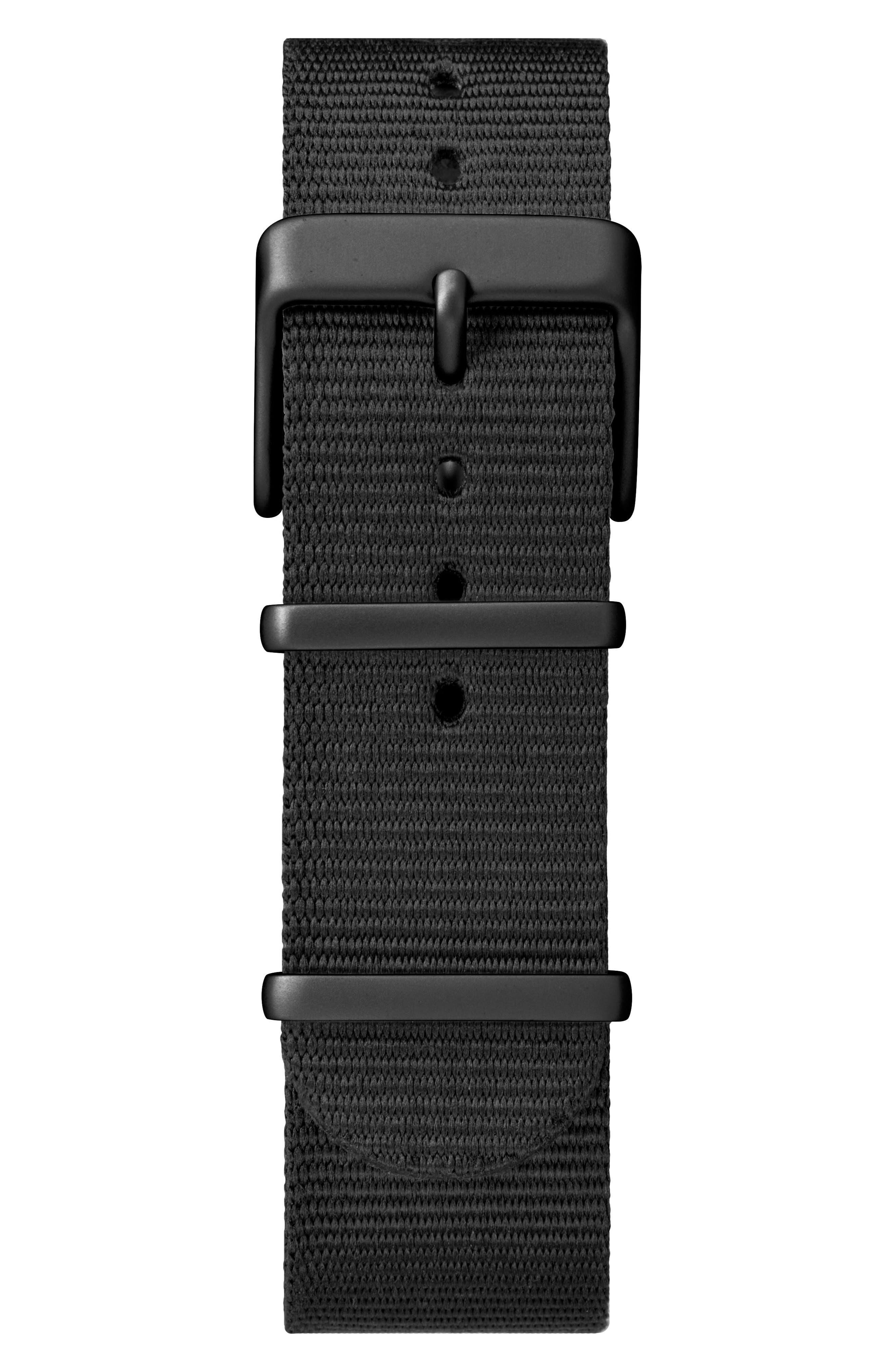 TIMEX<SUP>®</SUP>, Timex MK1 Nylon Strap Watch, 40mm, Alternate thumbnail 3, color, BLACK