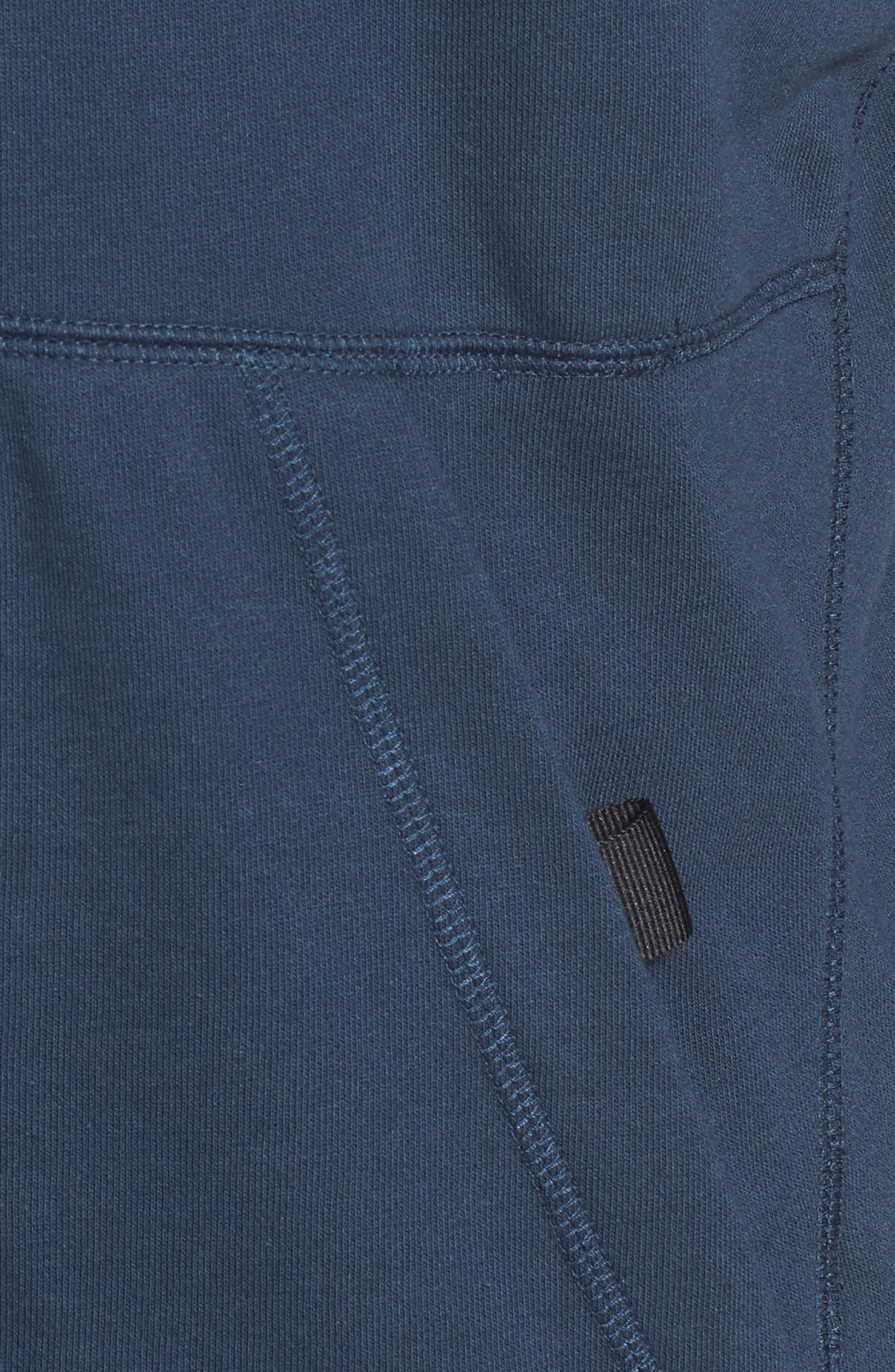 NIKE, Air Force One Zip Hoodie Jacket, Alternate thumbnail 6, color, ARMORY NAVY/ BLACK