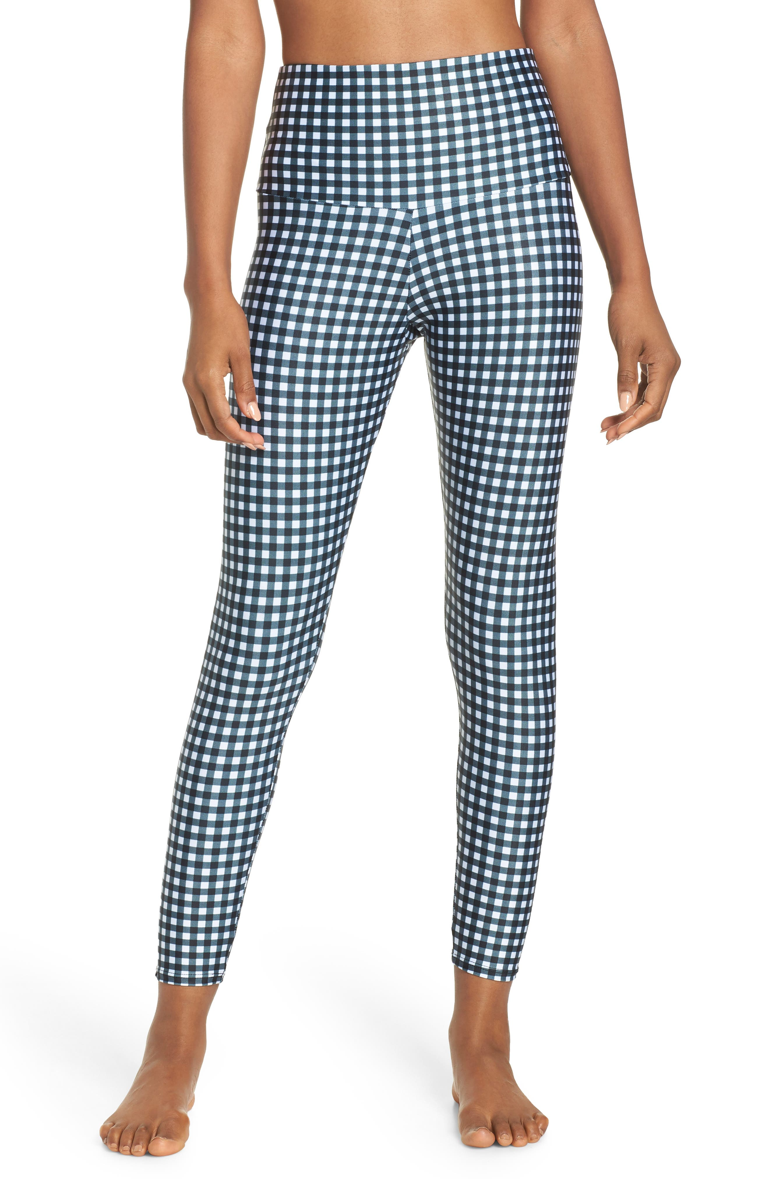 ONZIE High Rise Capris, Main, color, GINGHAM