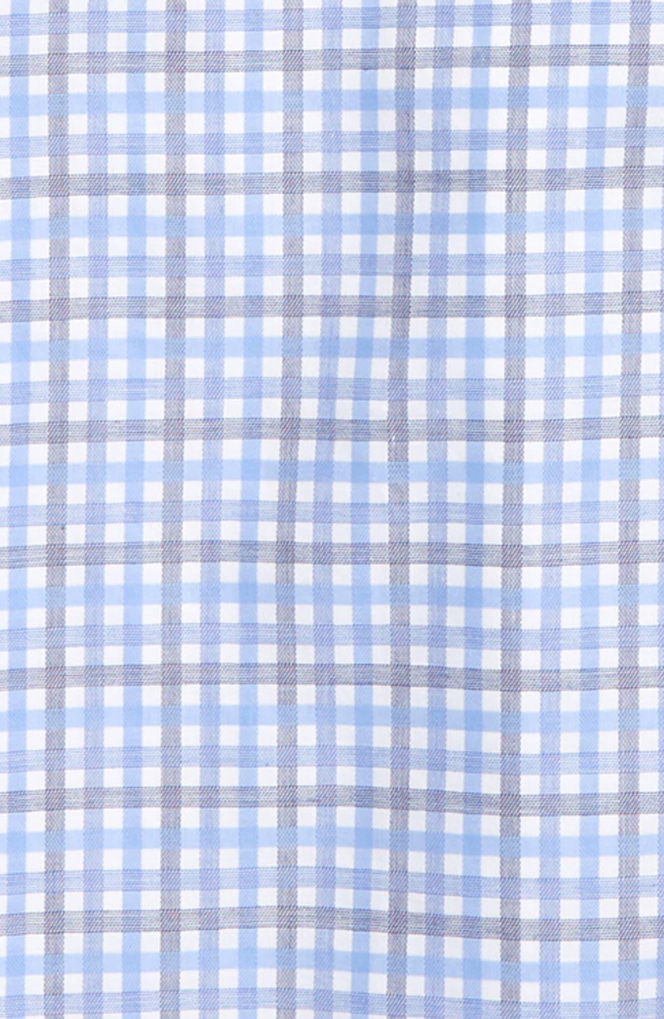 MICHAEL KORS, Check Print Dress Shirt, Alternate thumbnail 2, color, BLUE