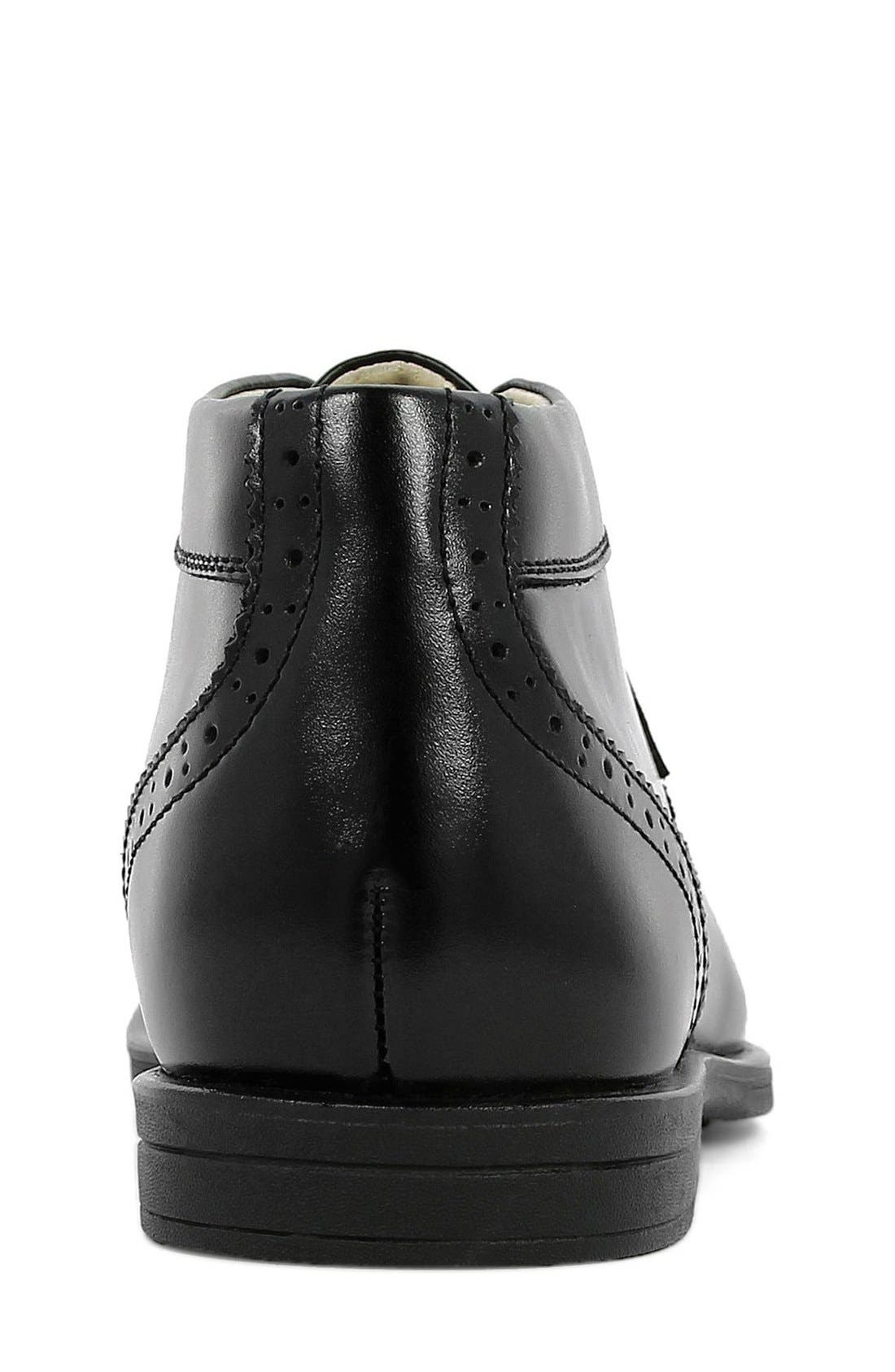 FLORSHEIM, 'Reveal' Chukka Boot, Alternate thumbnail 7, color, BLACK LEATHER
