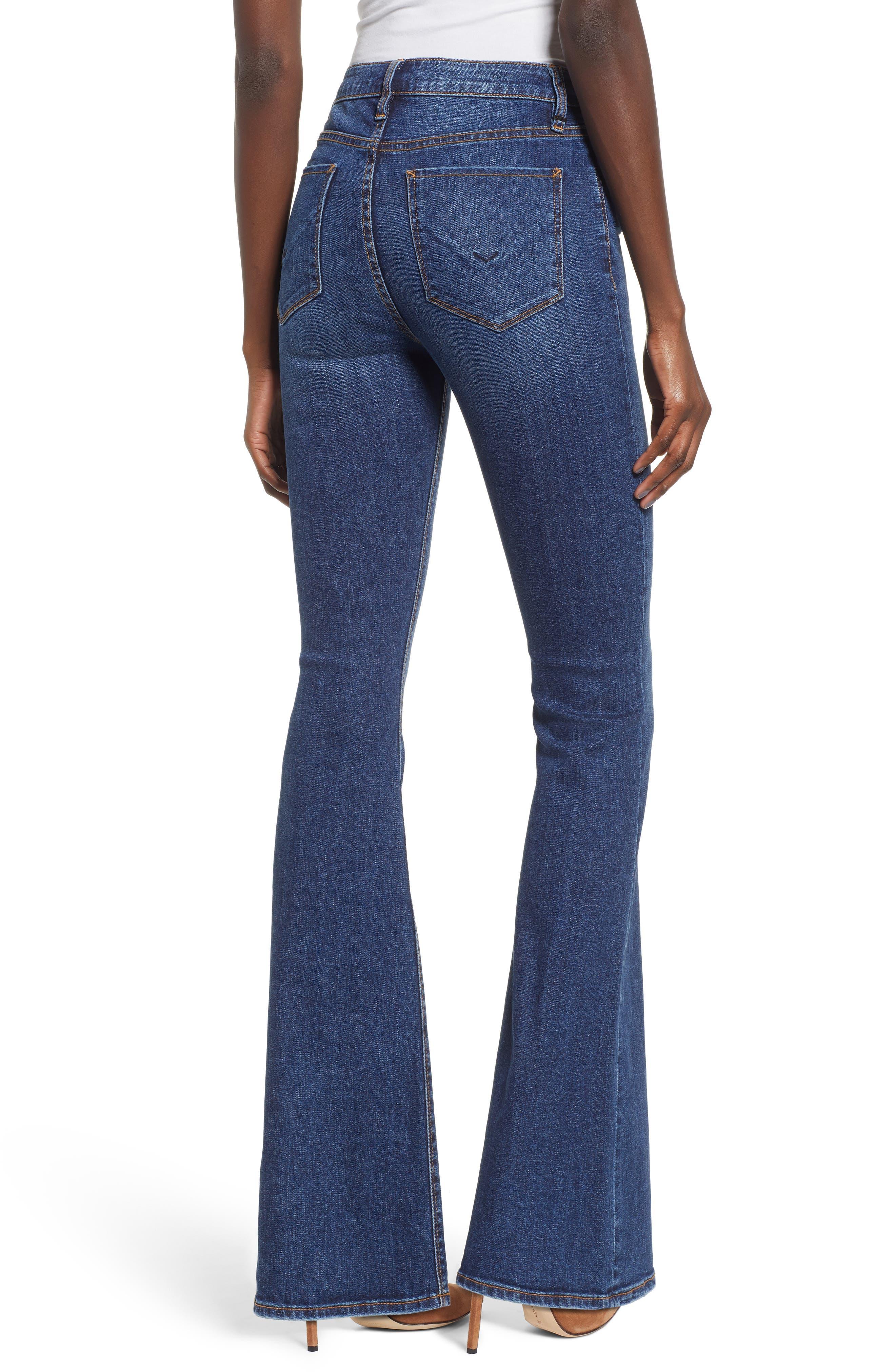HUDSON JEANS, Holly High Waist Flare Jeans, Alternate thumbnail 2, color, VAGABOND