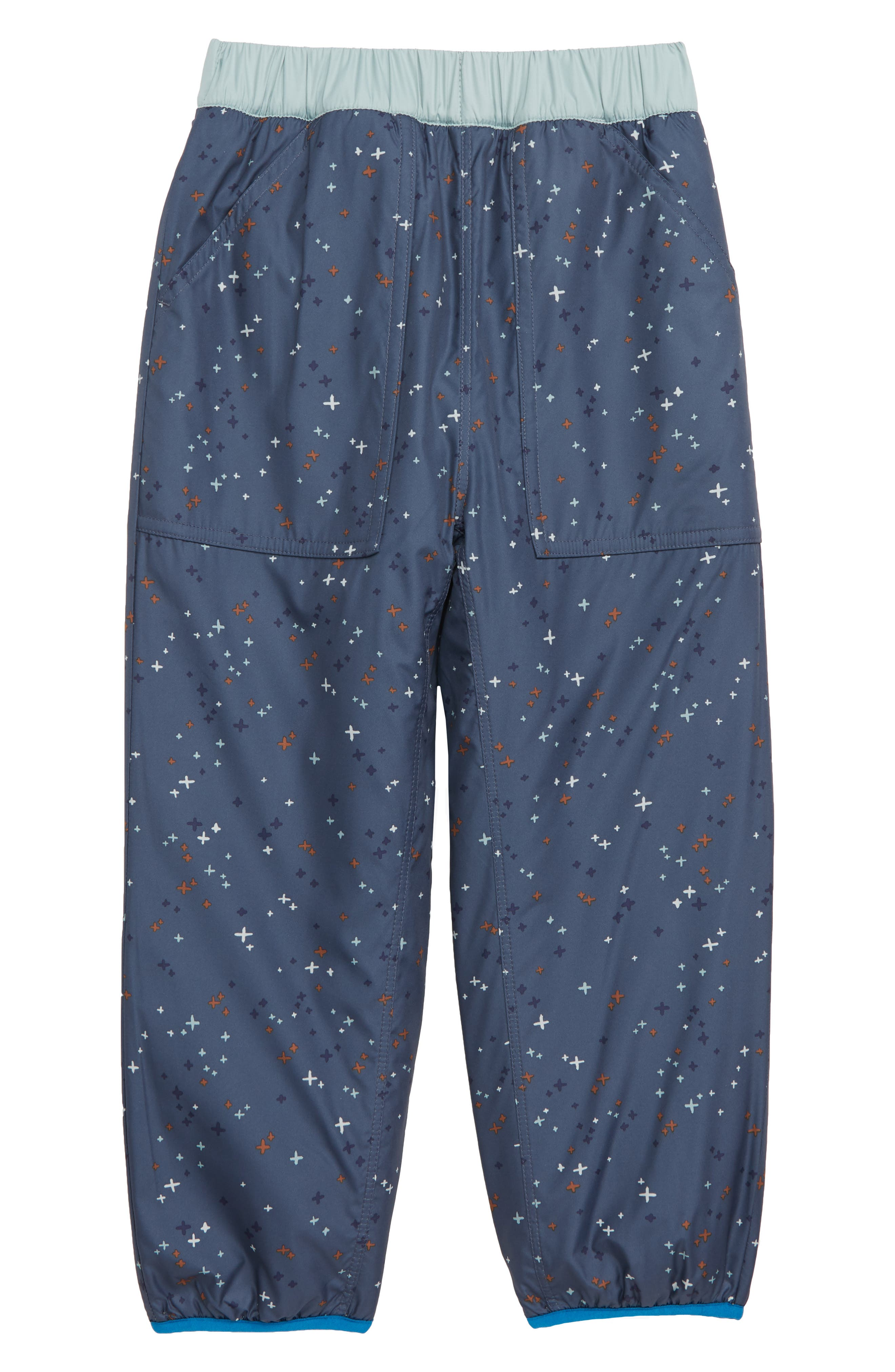 Toddler Boys Patagonia Tribbles Reversible Water Repellent Snow Pants Size 3T  Blue