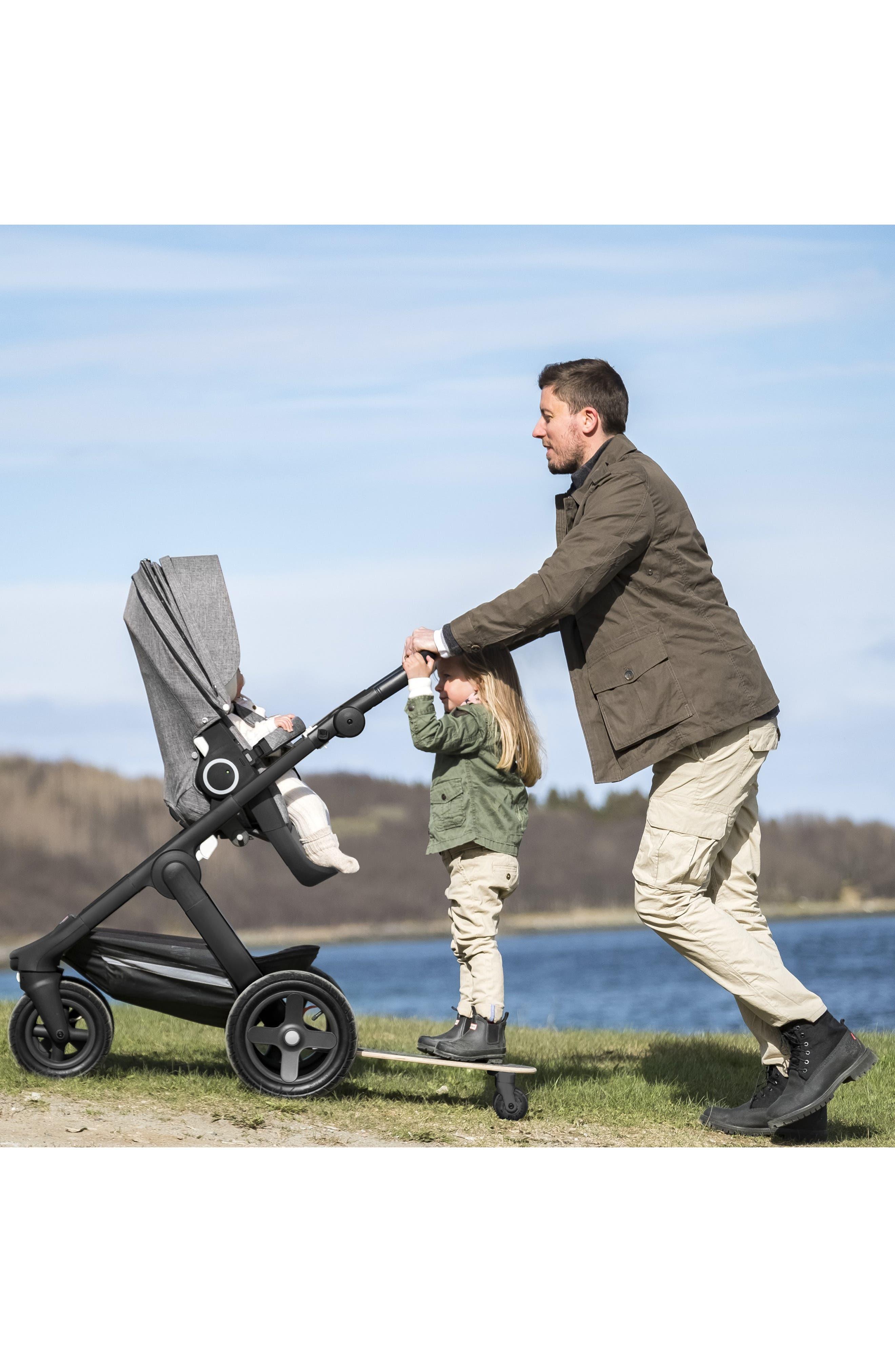 STOKKE, Trailz Sibling Board Stroller Rider, Alternate thumbnail 4, color, BLACK