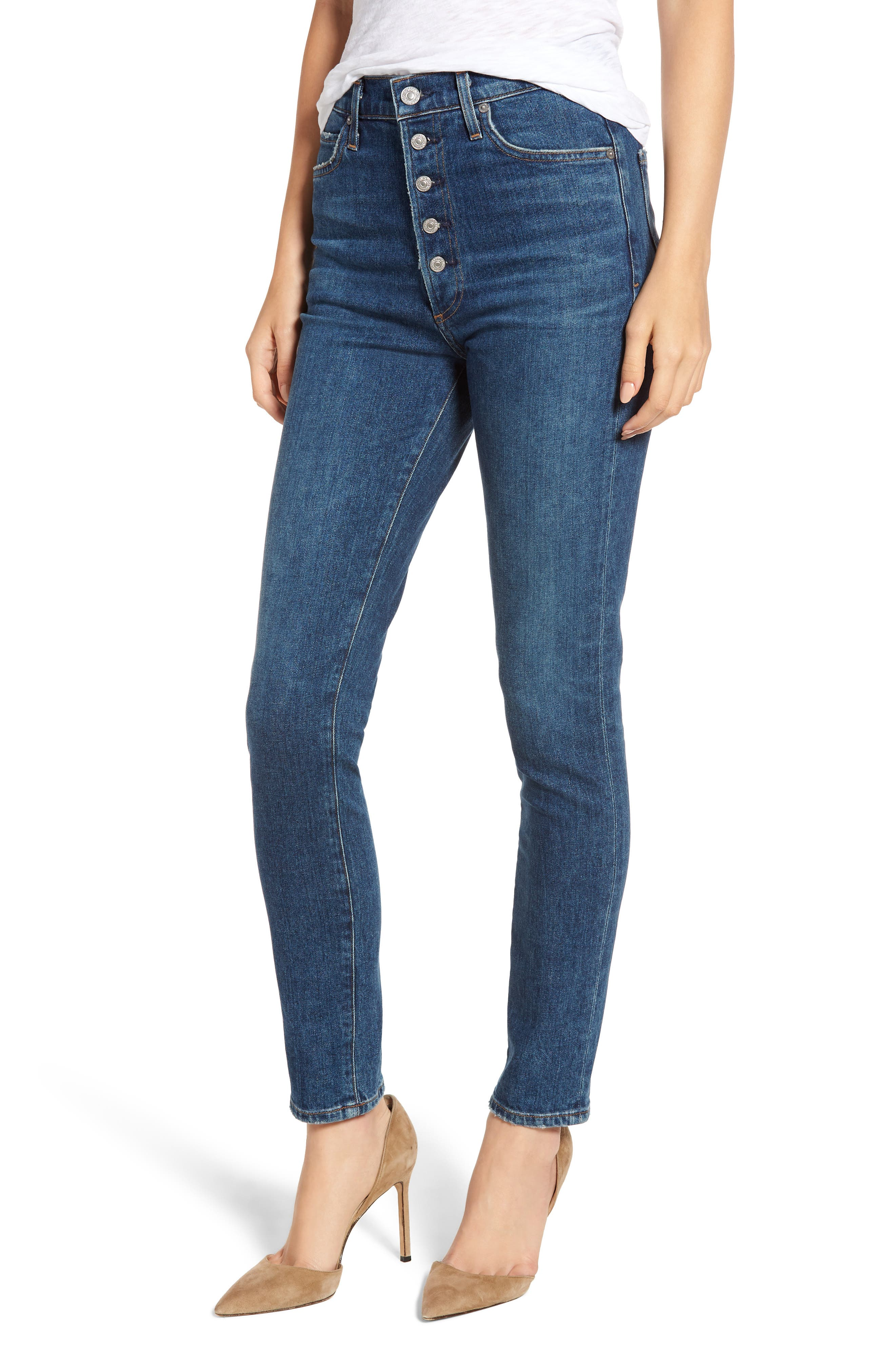 CITIZENS OF HUMANITY Olivia High Waist Slim Jeans, Main, color, CIRCA