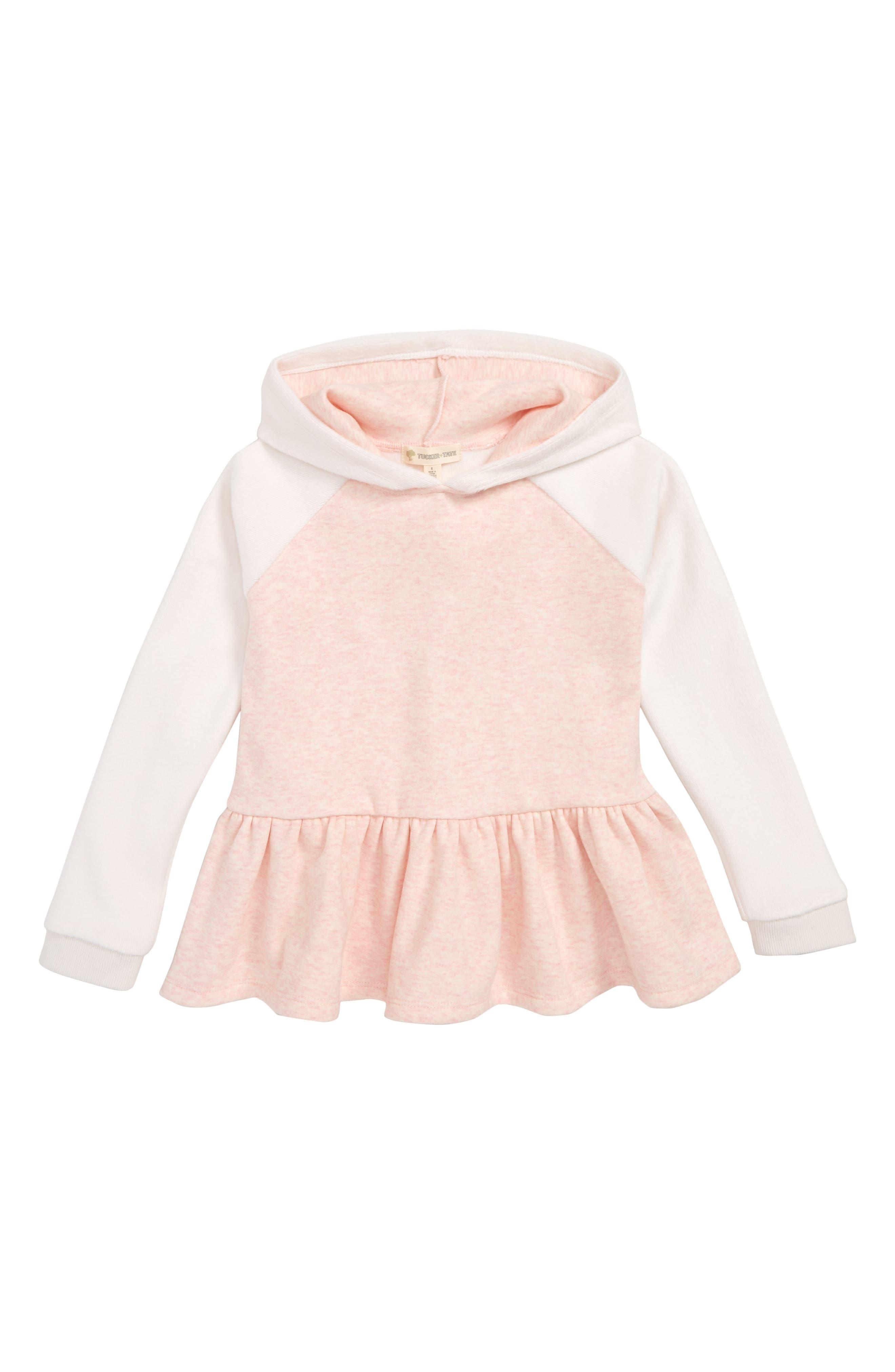 Girls Tucker  Tate Cozy Peplum Hoodie Size 5  Pink