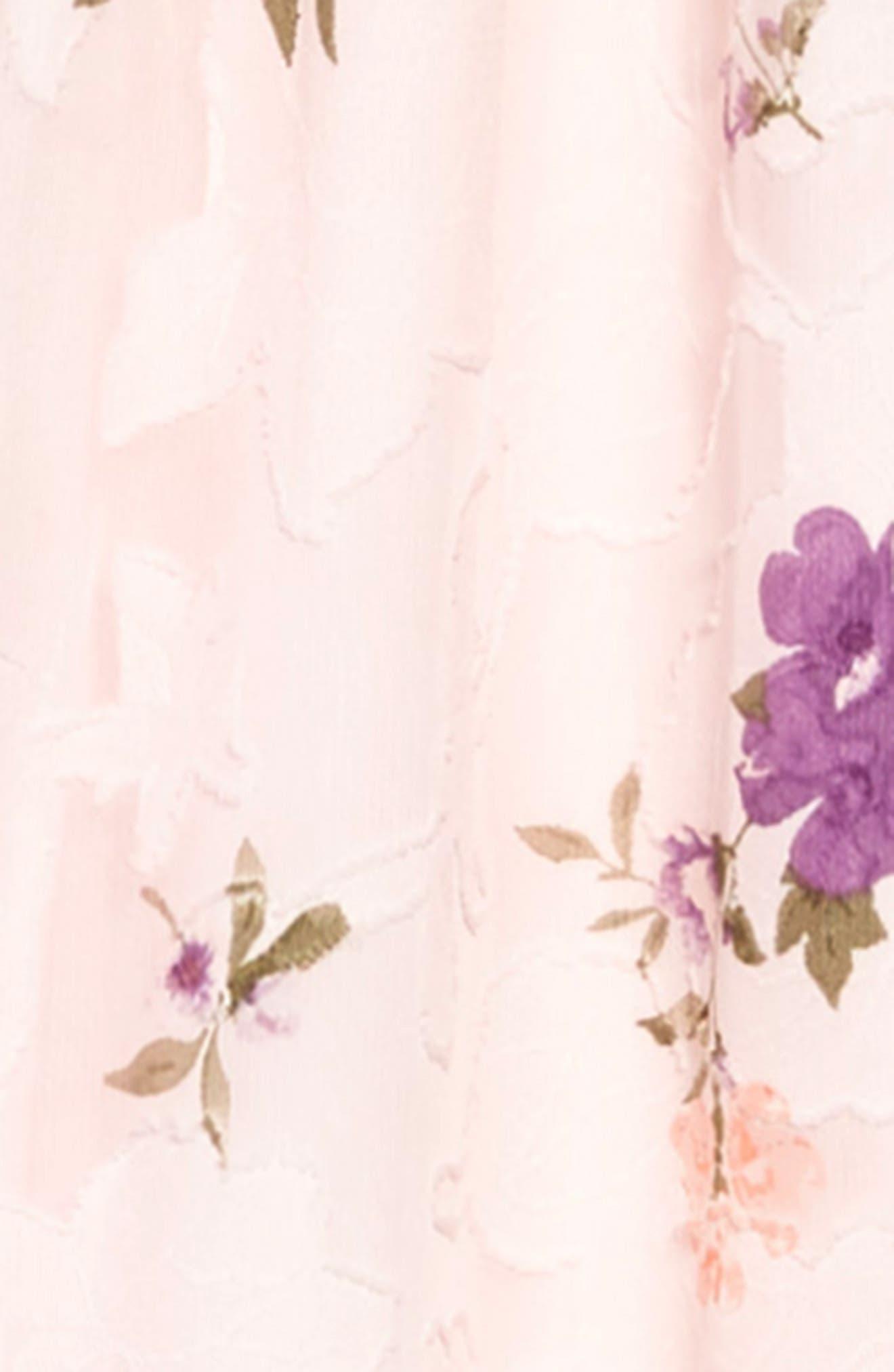 ZUNIE, Floral Burnout Chiffon Jumpsuit, Alternate thumbnail 2, color, BLUSH