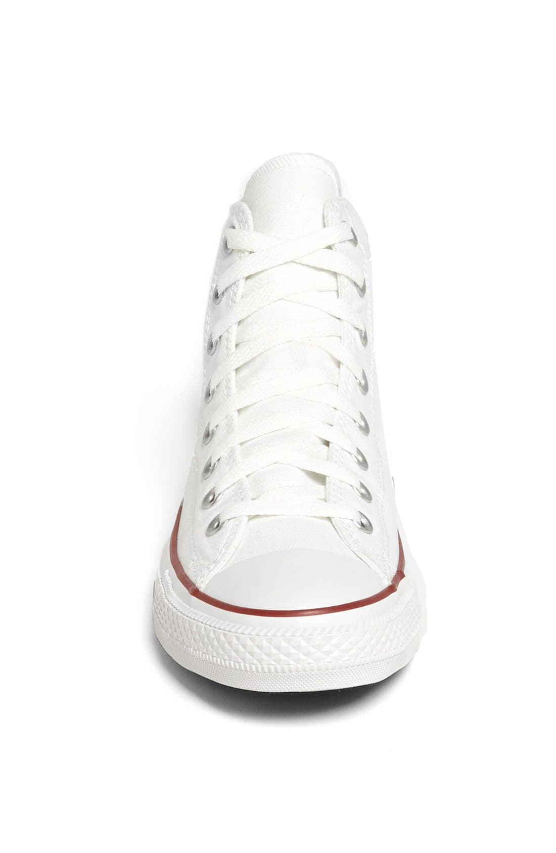 CONVERSE, Chuck Taylor<sup>®</sup> High Top Sneaker, Alternate thumbnail 4, color, OPTIC WHITE