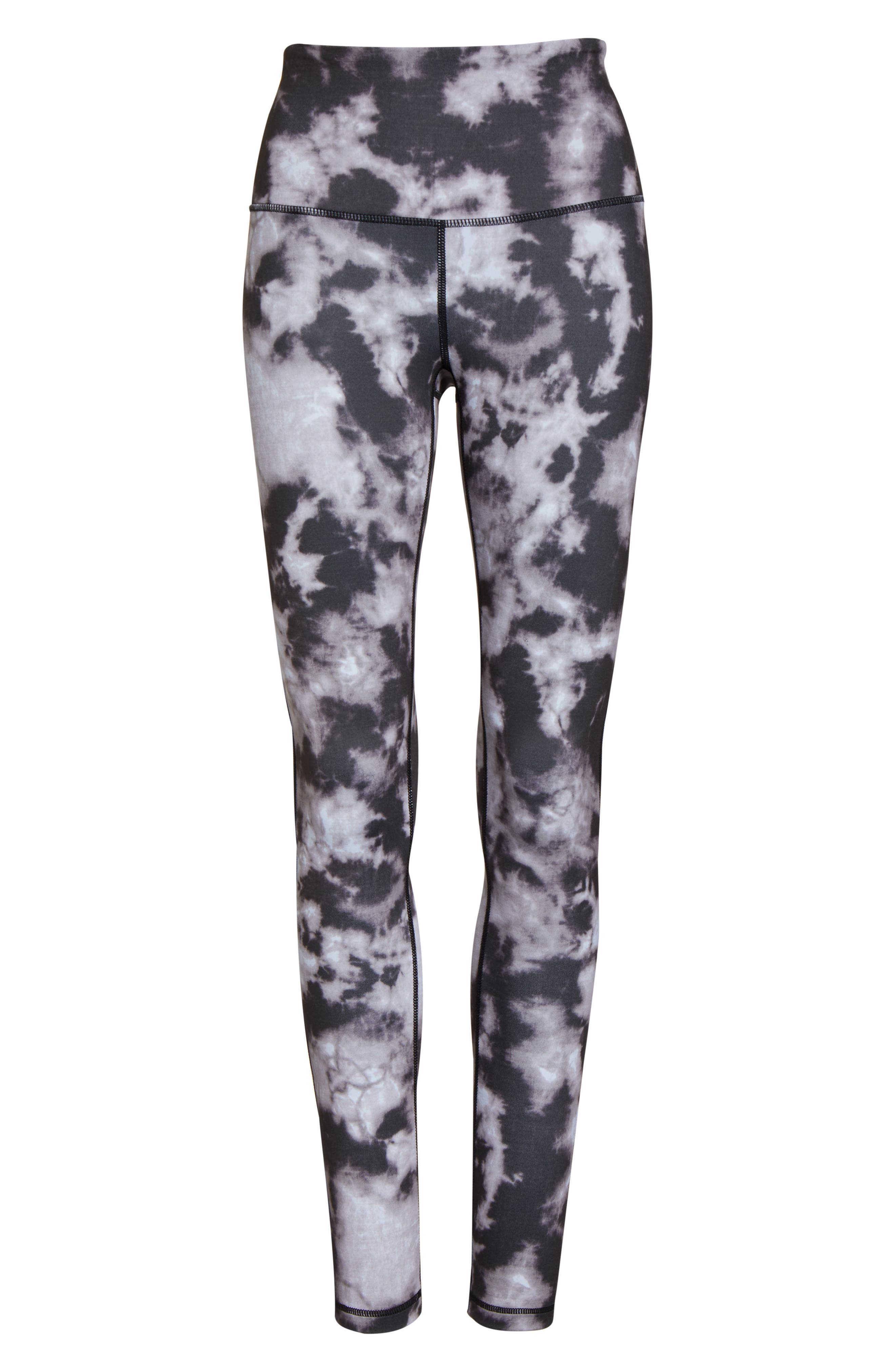 ZELLA, Live In High Waist Leggings, Alternate thumbnail 7, color, BLACK SUN BLEACH PRINT