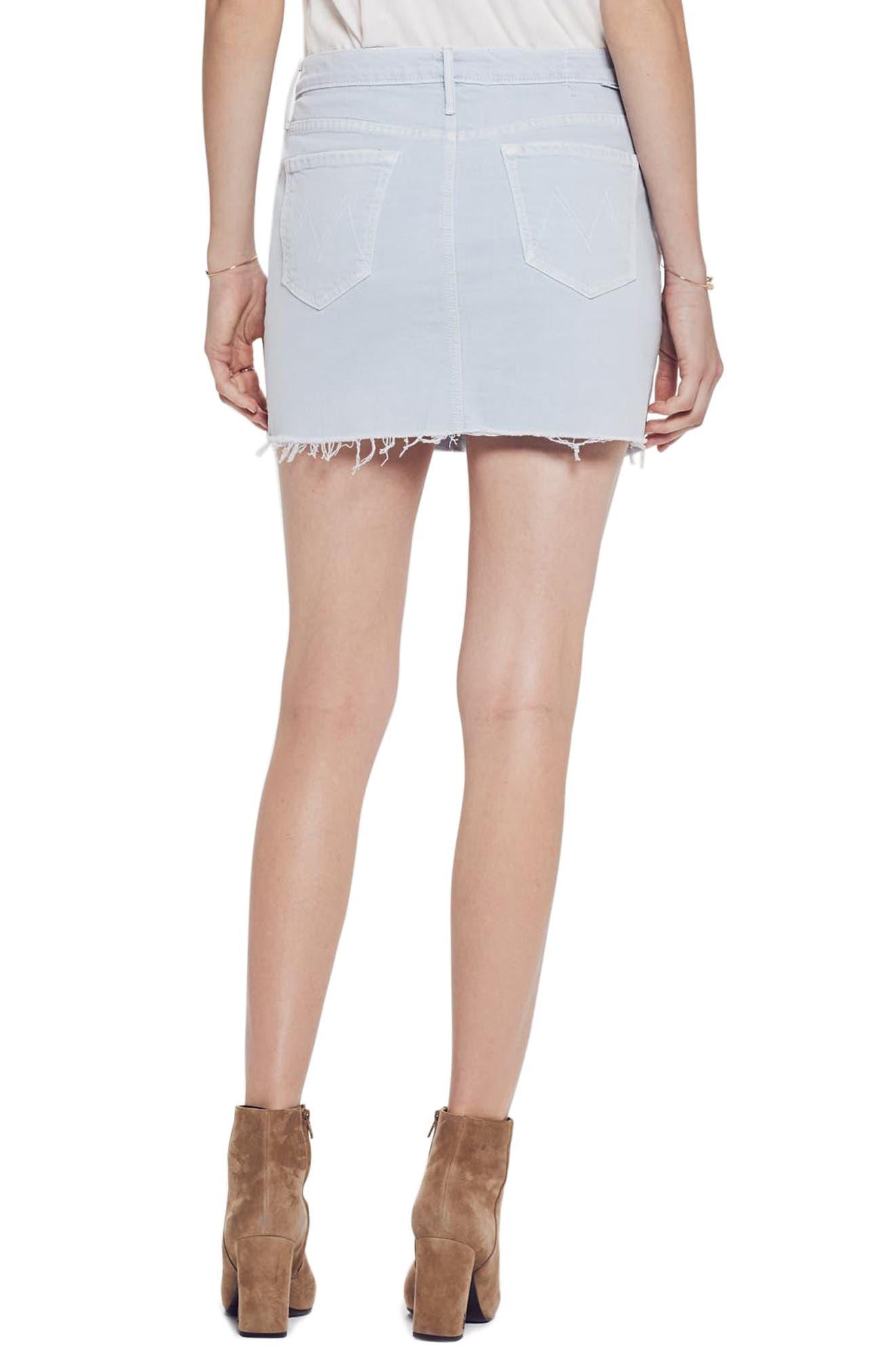 MOTHER, The Vagabond Cutoff Denim Miniskirt, Alternate thumbnail 2, color, 450