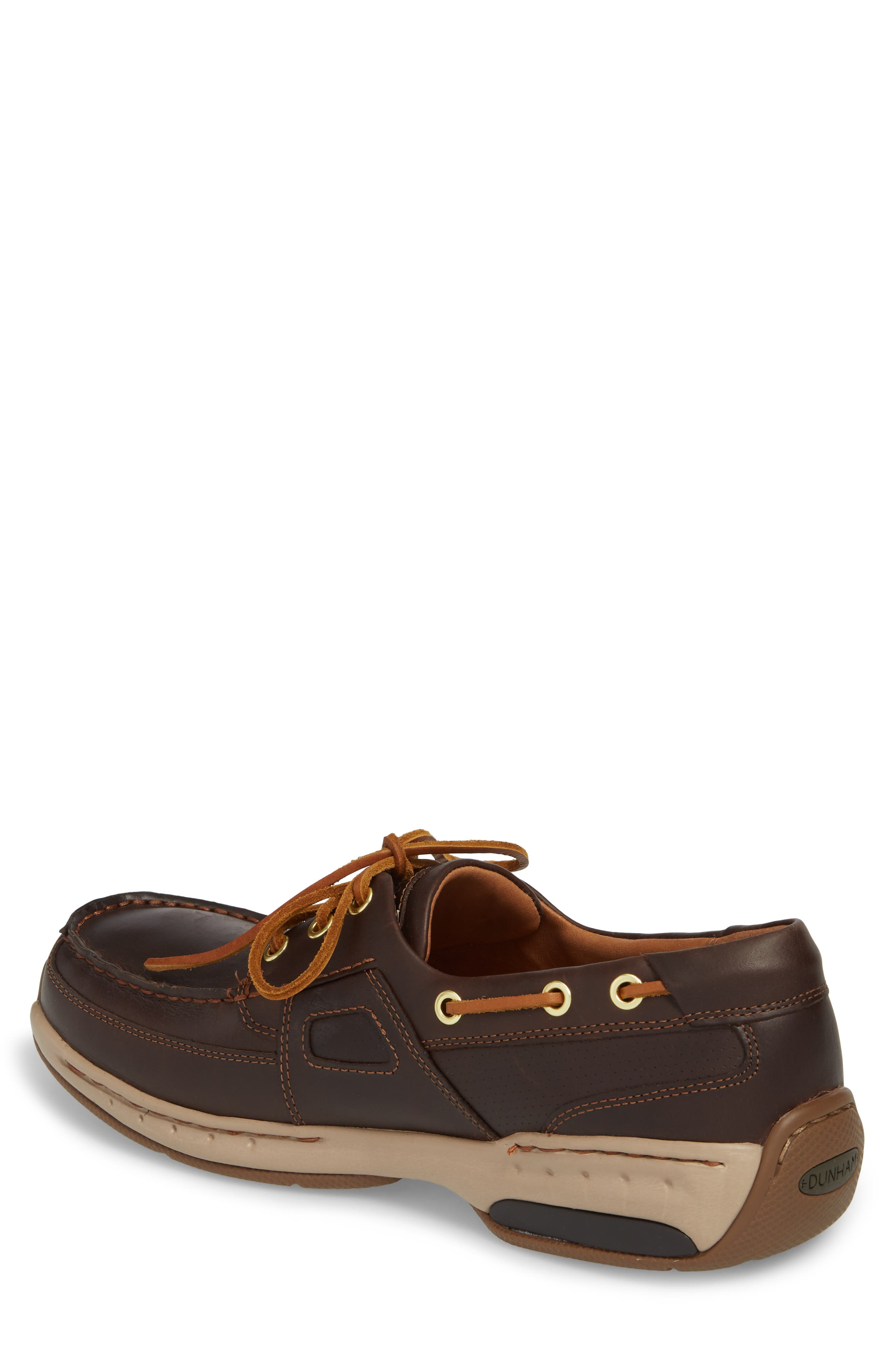 DUNHAM, LTD Water Resistant Boat Shoe, Alternate thumbnail 2, color, TAN LEATHER