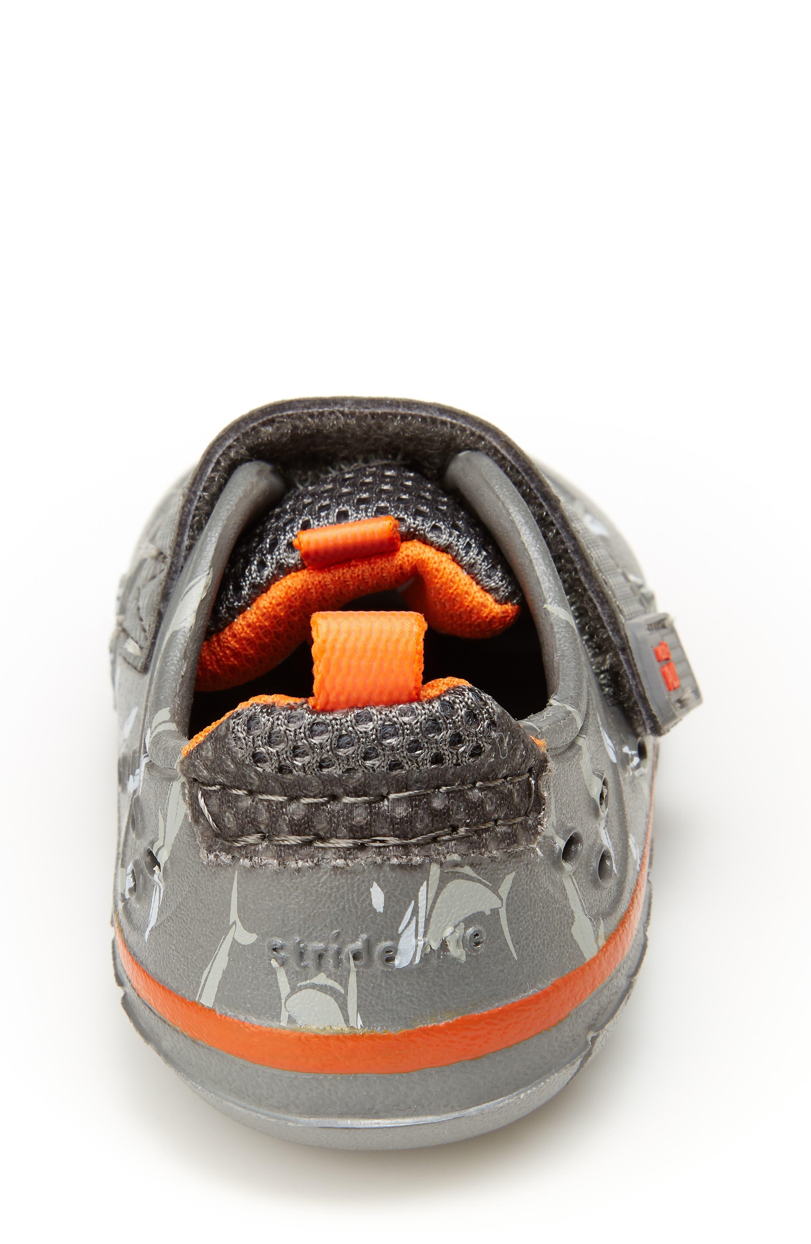 STRIDE RITE, Made2Play<sup>®</sup> Phibian Sneaker, Alternate thumbnail 6, color, GREY SHARK EVA