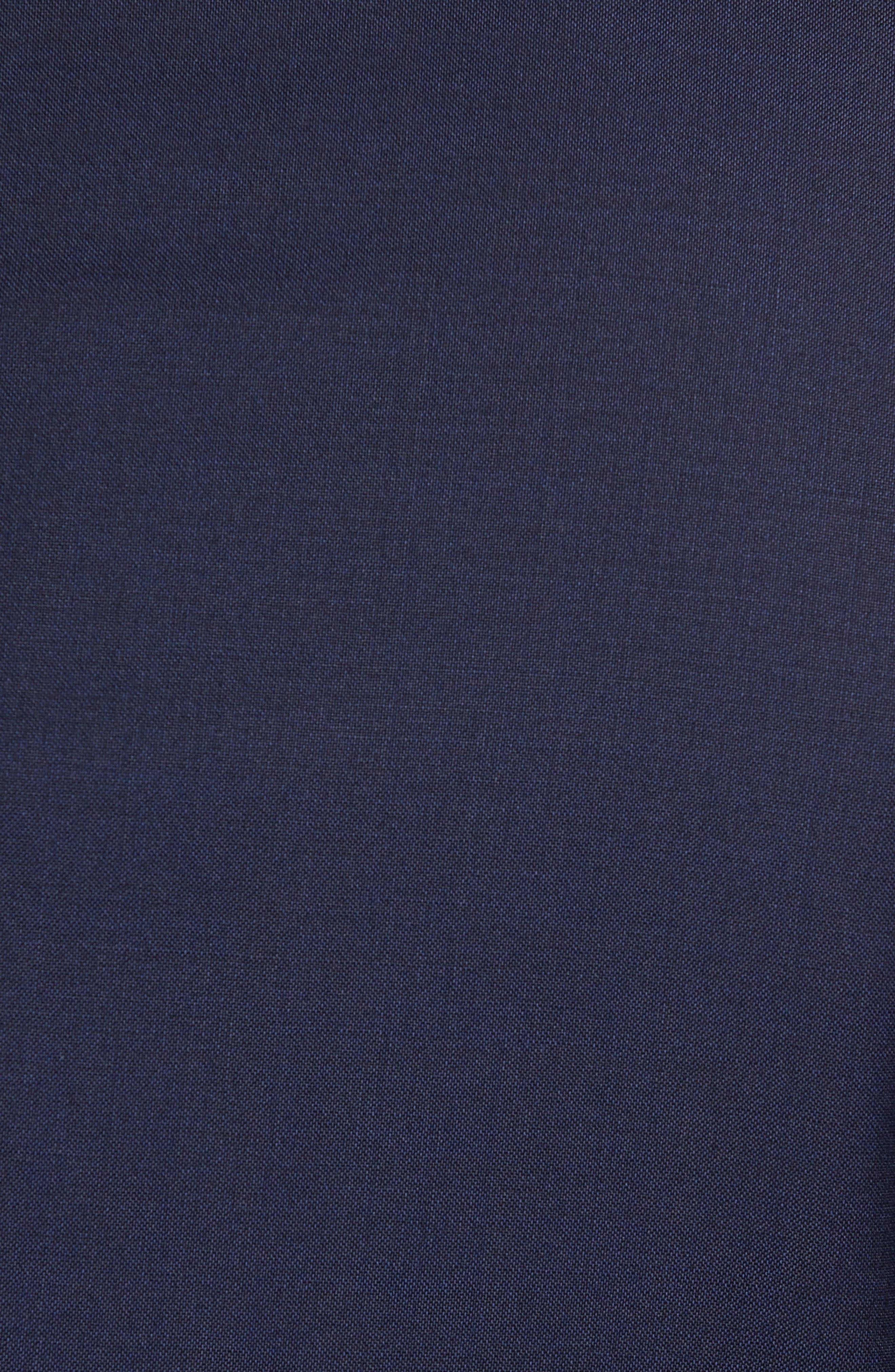 BOSS, Huge/Genius Trim Fit Navy Wool Suit, Alternate thumbnail 7, color, 410