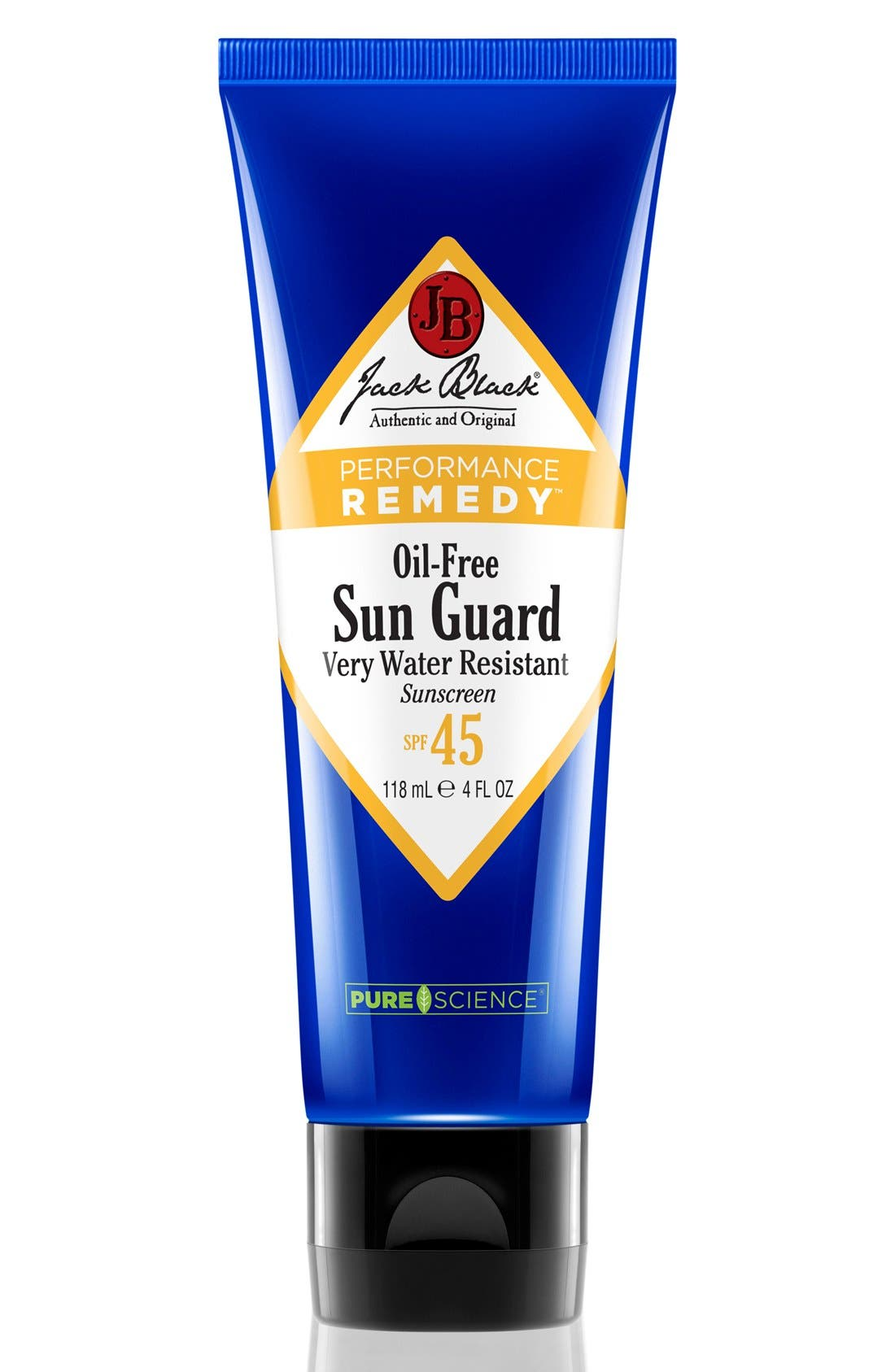 JACK BLACK Sun Guard Very Water Resistant Sunscreen SPF 45, Main, color, NO COLOR