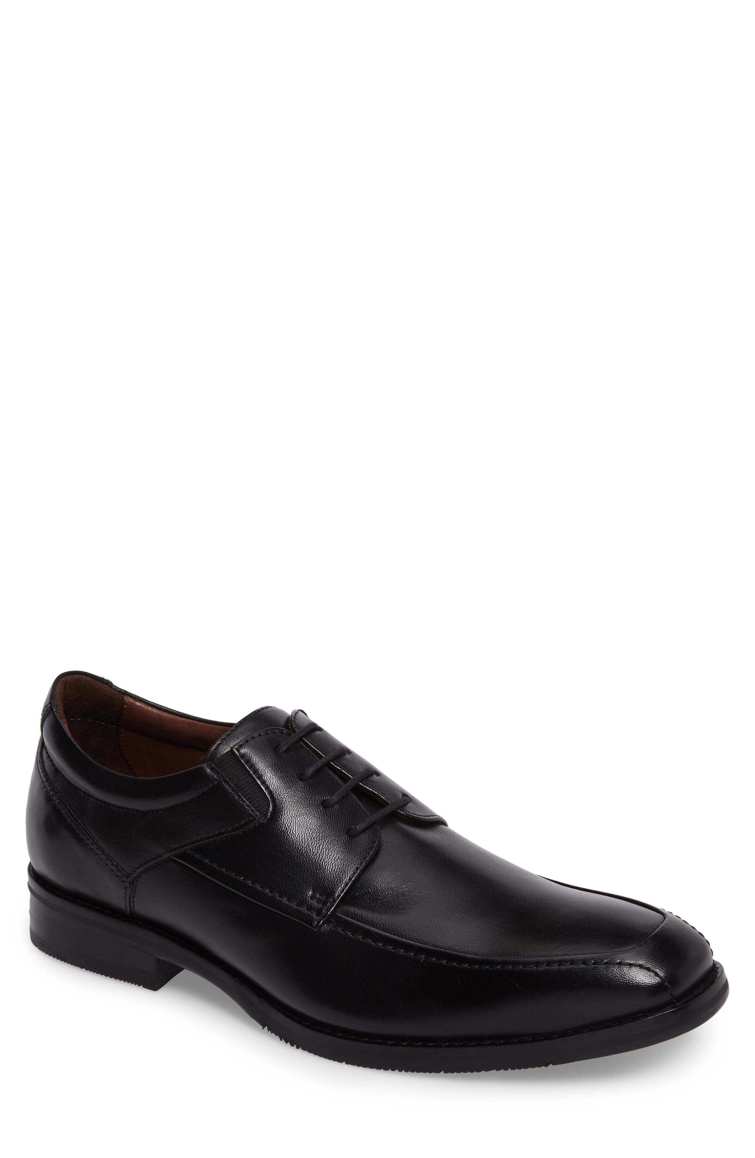 JOHNSTON & MURPHY Apron Toe Derby, Main, color, BLACK