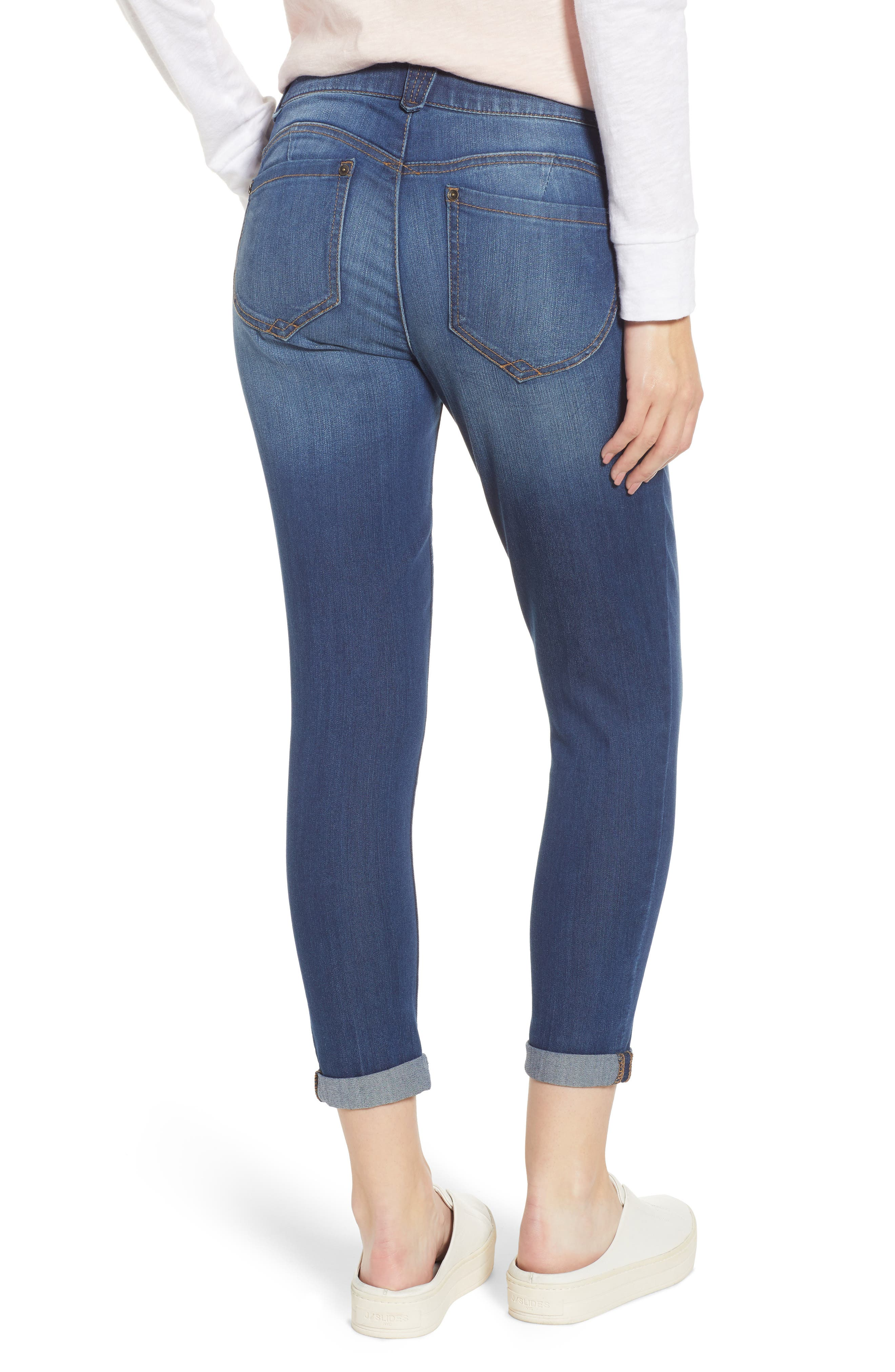 WIT & WISDOM, Ab-Solution Ankle Skimmer Jeans, Alternate thumbnail 2, color, BLUE