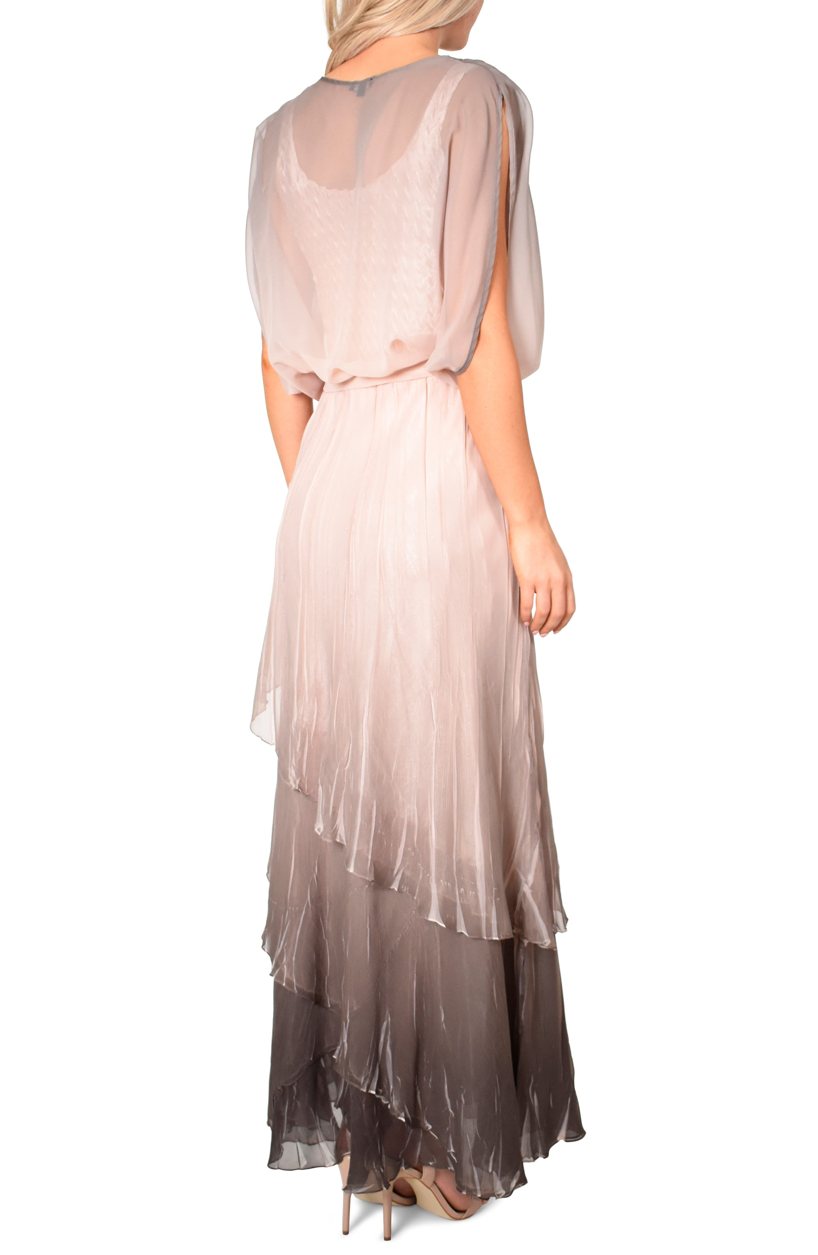 KOMAROV, Drape Chiffon Gown, Alternate thumbnail 2, color, 250
