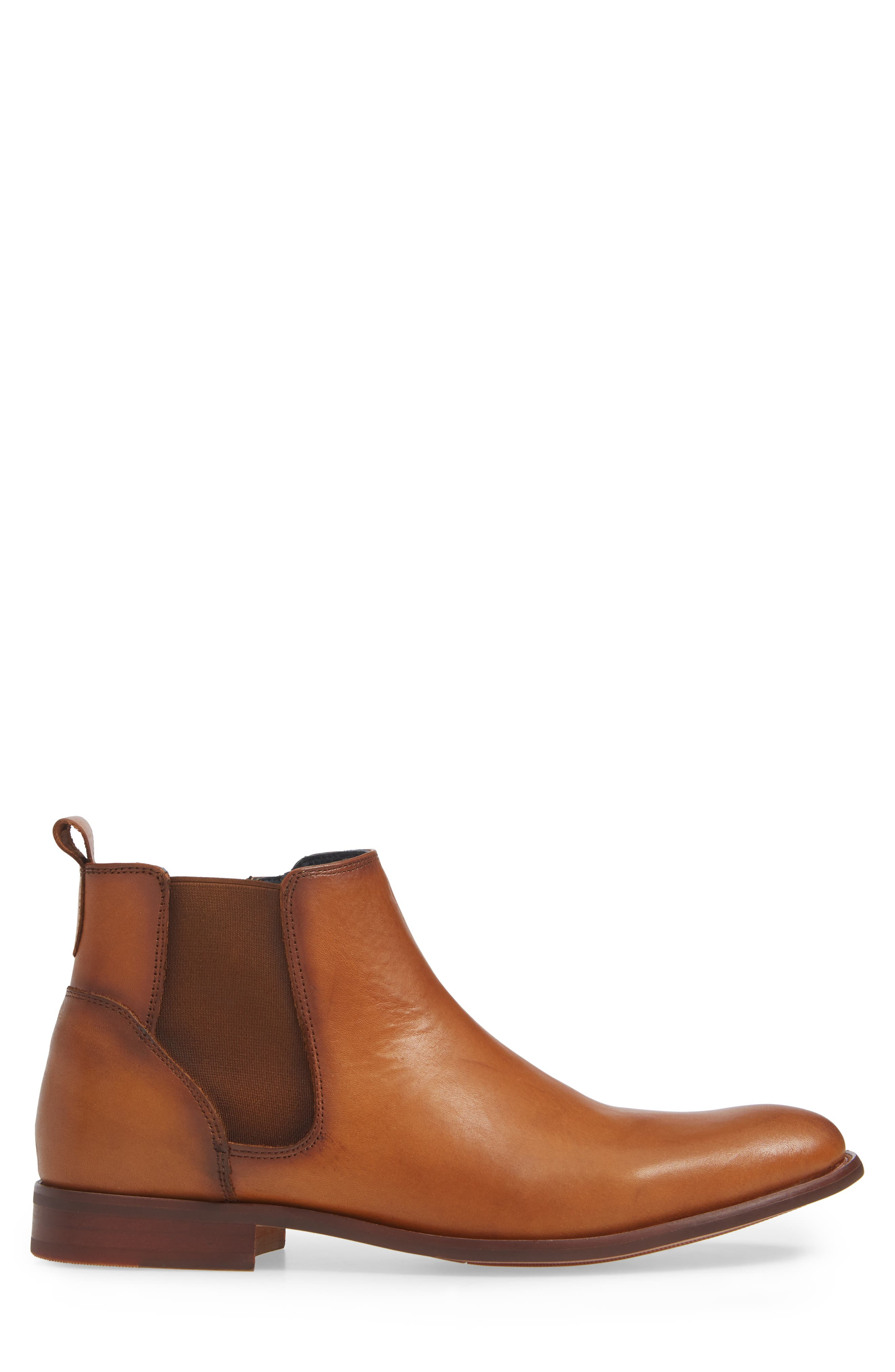 JUMP, Collin Plain Toe Chelsea Boot, Alternate thumbnail 3, color, TAN