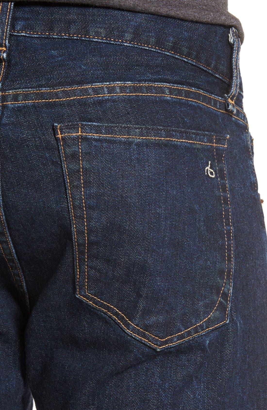 RAG & BONE, Standard Issue Fit 3 Slim Straight Leg Jeans, Alternate thumbnail 11, color, HERITAGE