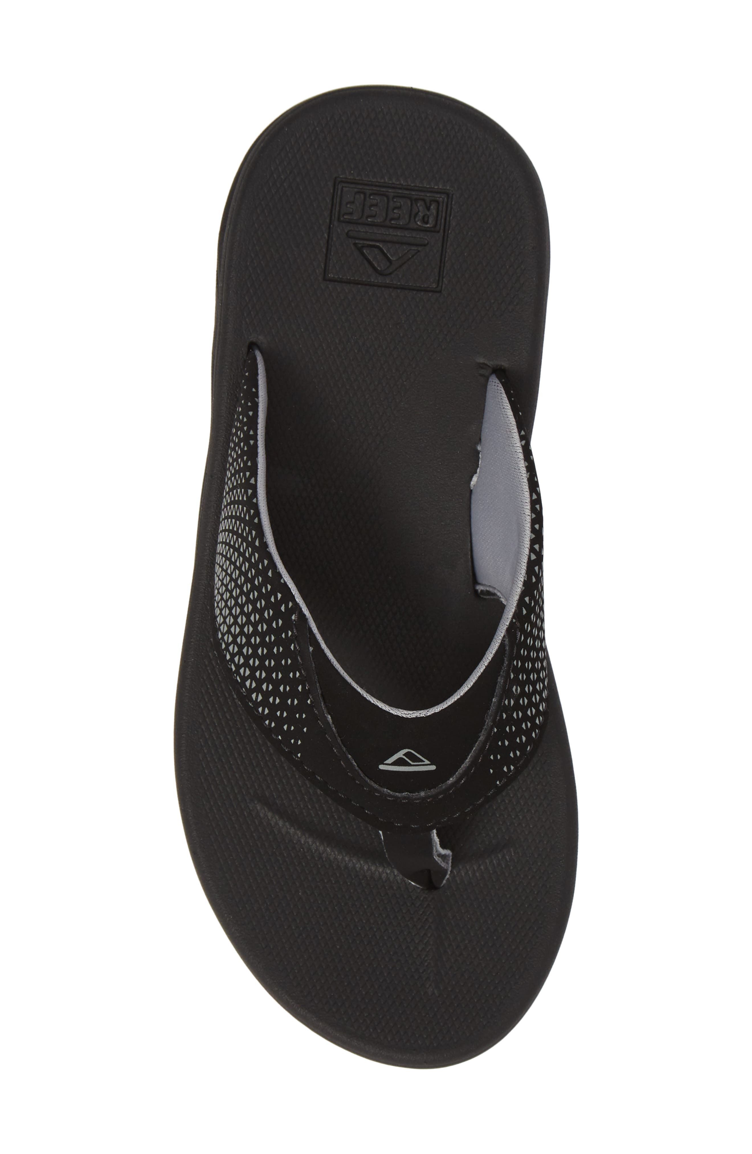 REEF, Grom Rover Water Friendly Sandal, Alternate thumbnail 5, color, BLACK