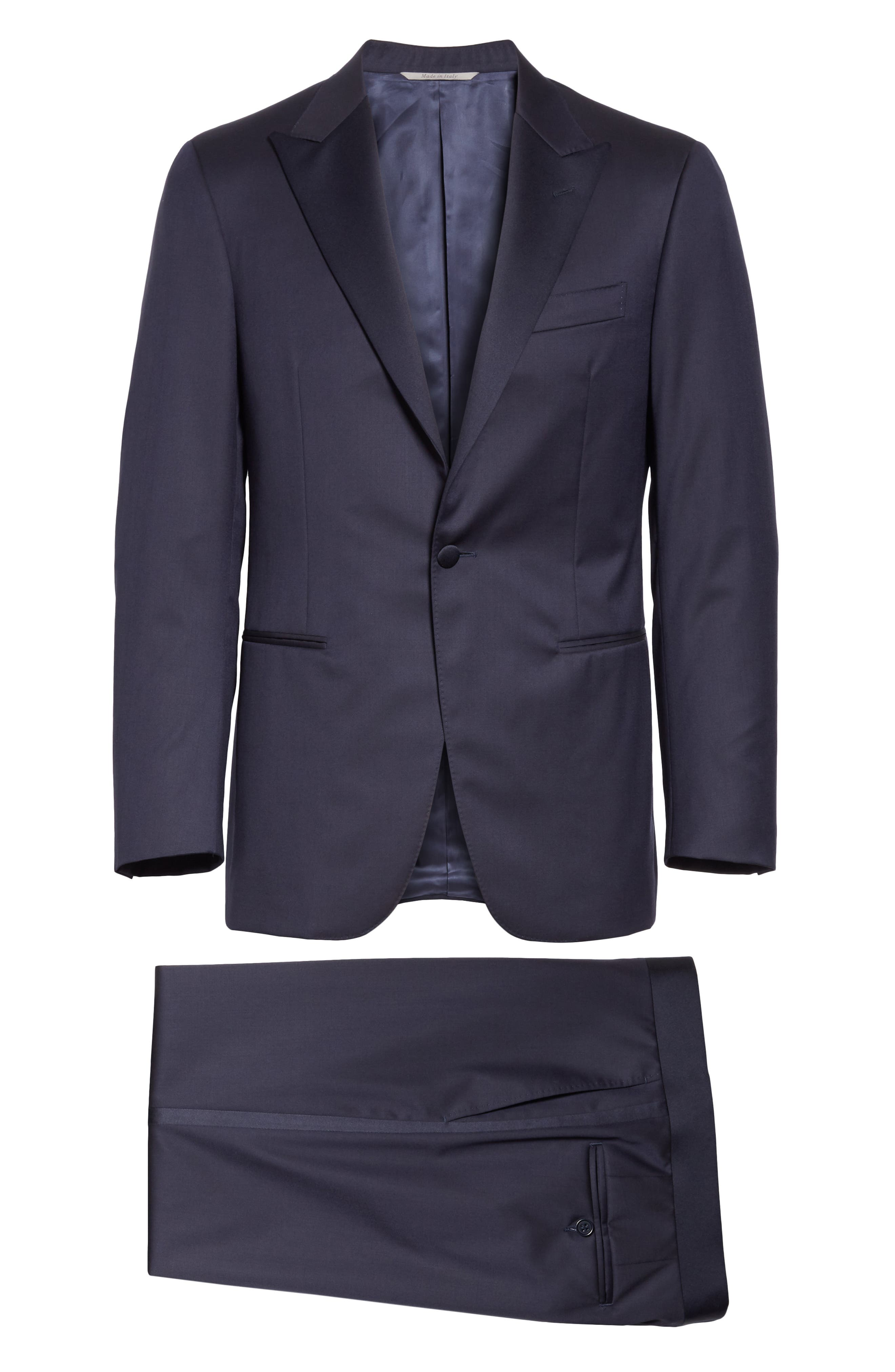CANALI, Classic Fit Wool Tuxedo, Alternate thumbnail 8, color, NAVY