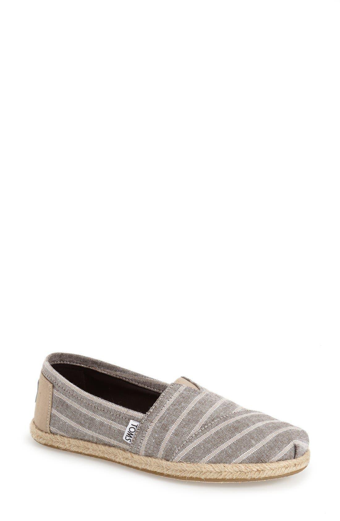 TOMS Stripe Espadrille Slip-On, Main, color, 200