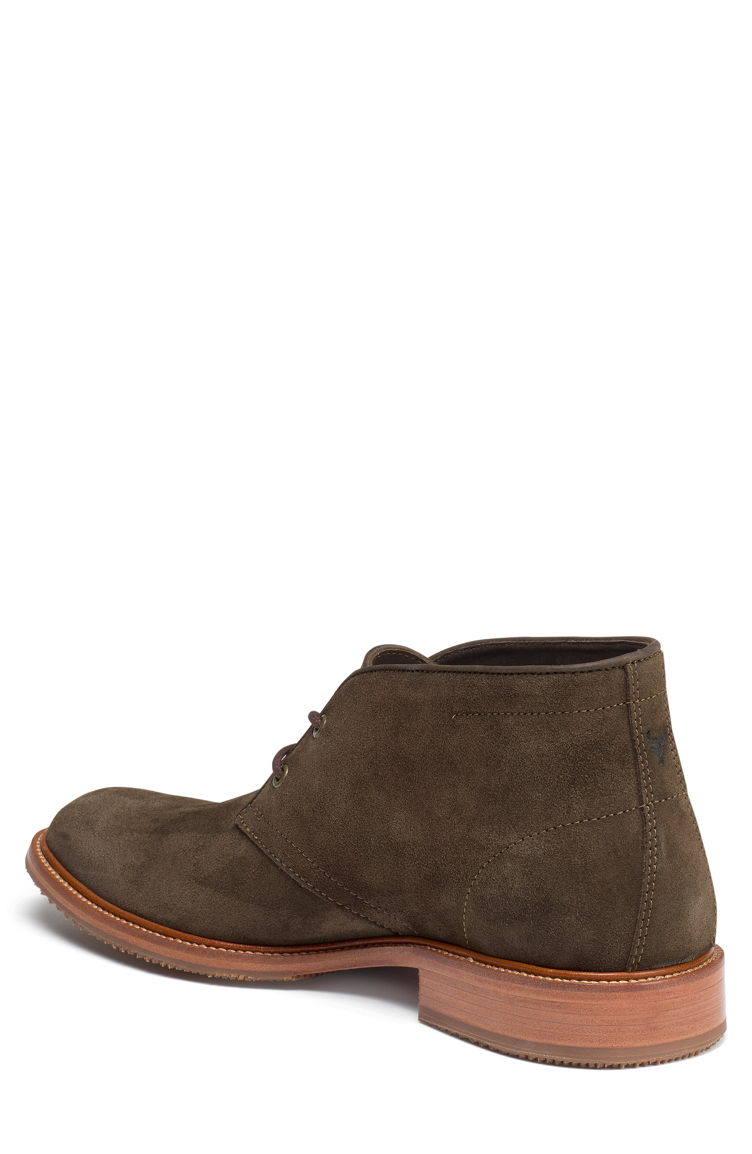 TRASK, Landers Chukka Boot, Alternate thumbnail 2, color, OLIVE SUEDE