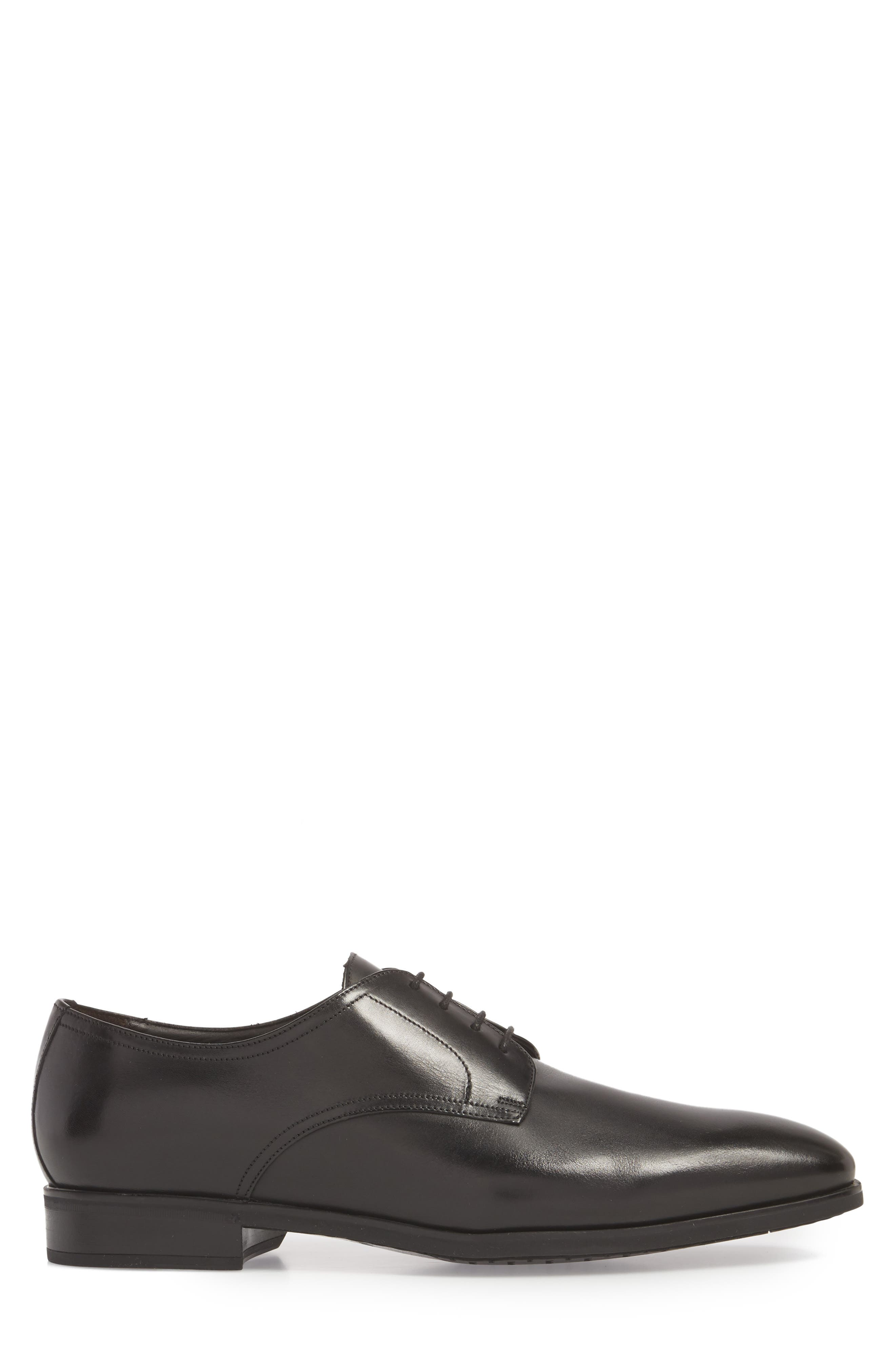 TO BOOT NEW YORK, Dwight Plain Toe Derby, Alternate thumbnail 3, color, BLACK LEATHER