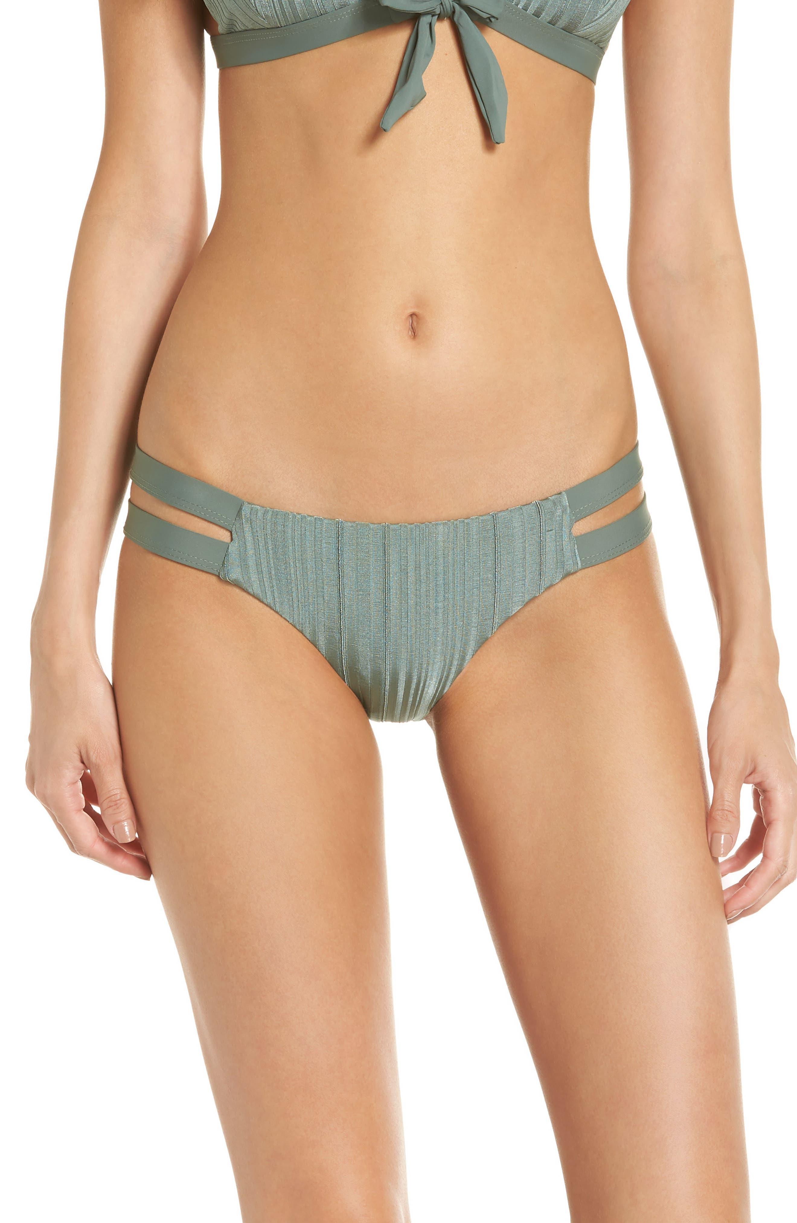 TAVIK Chloe Bikini Bottoms, Main, color, MEADOW GREEN