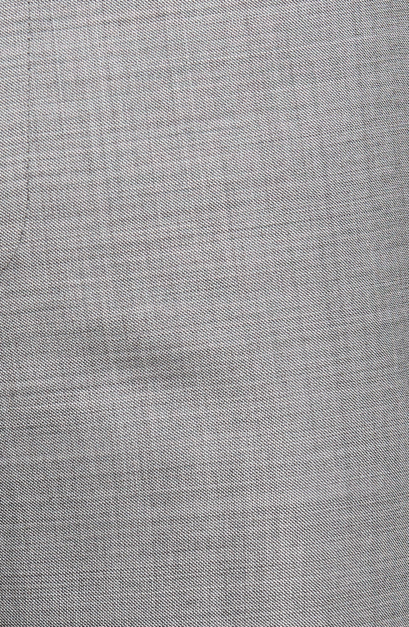 JOHN W. NORDSTROM<SUP>®</SUP>, Traditional Fit Flat Front Solid Wool Trousers, Alternate thumbnail 5, color, GREY PEARL