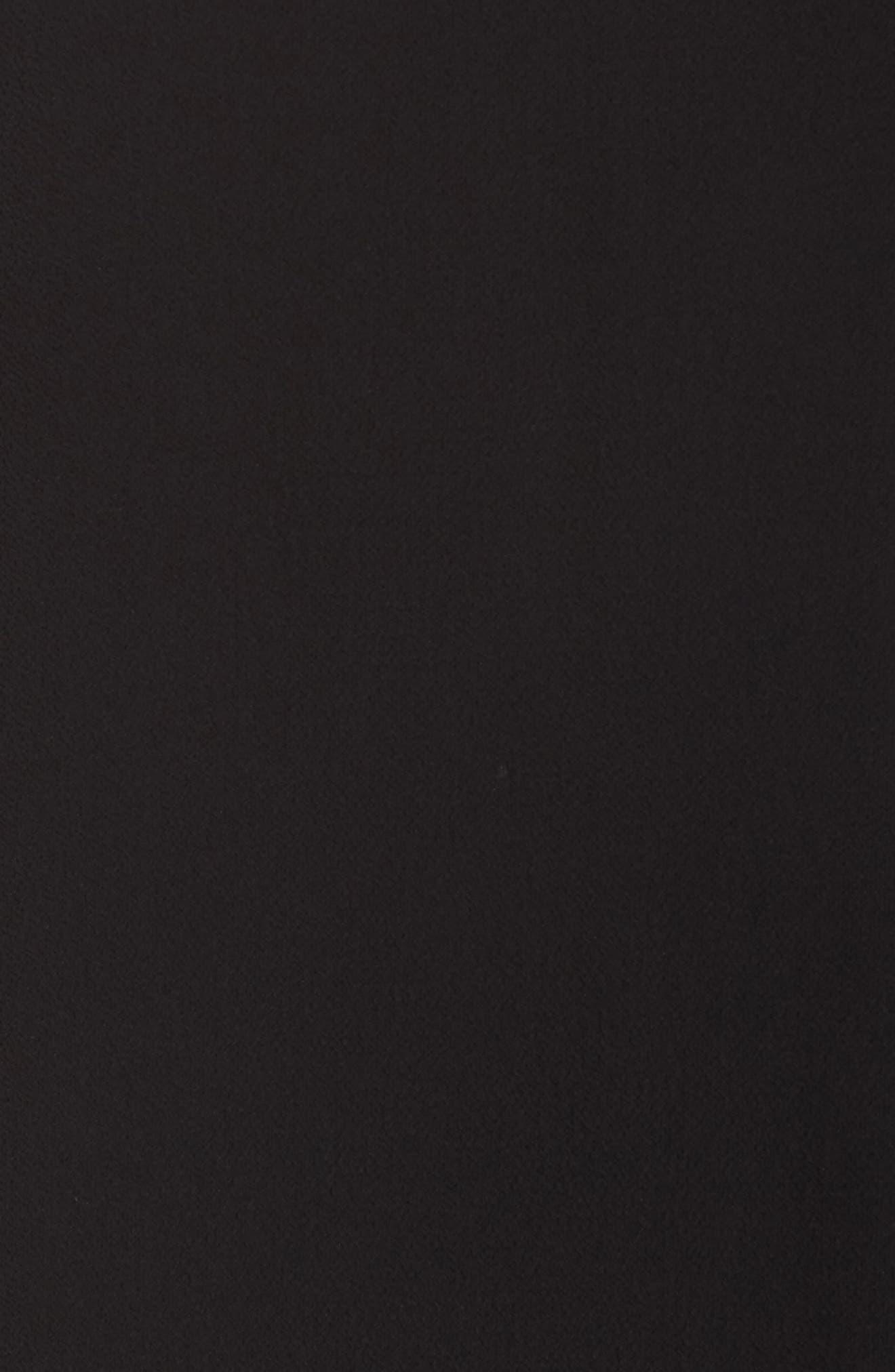 VINCE CAMUTO, Soft Texture Split Neck Tunic, Alternate thumbnail 5, color, RICH BLACK