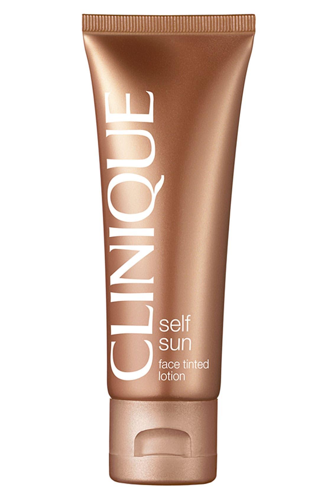 CLINIQUE Self Sun Face Tinted Lotion, Main, color, NO COLOR